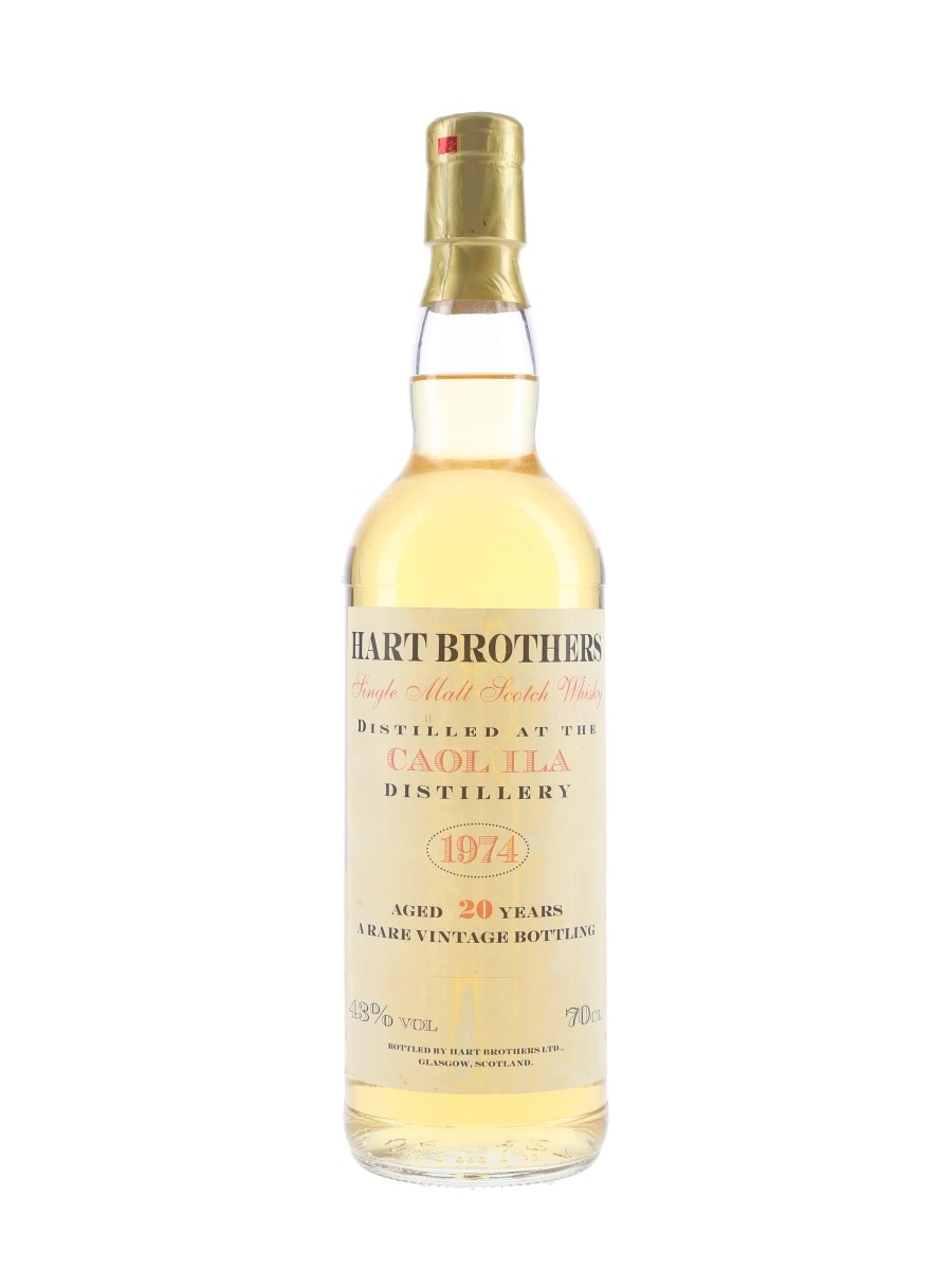 Caol Ila 1974 20 Year Old Bottled 1990s - Hart Brothers 70cl / 43%