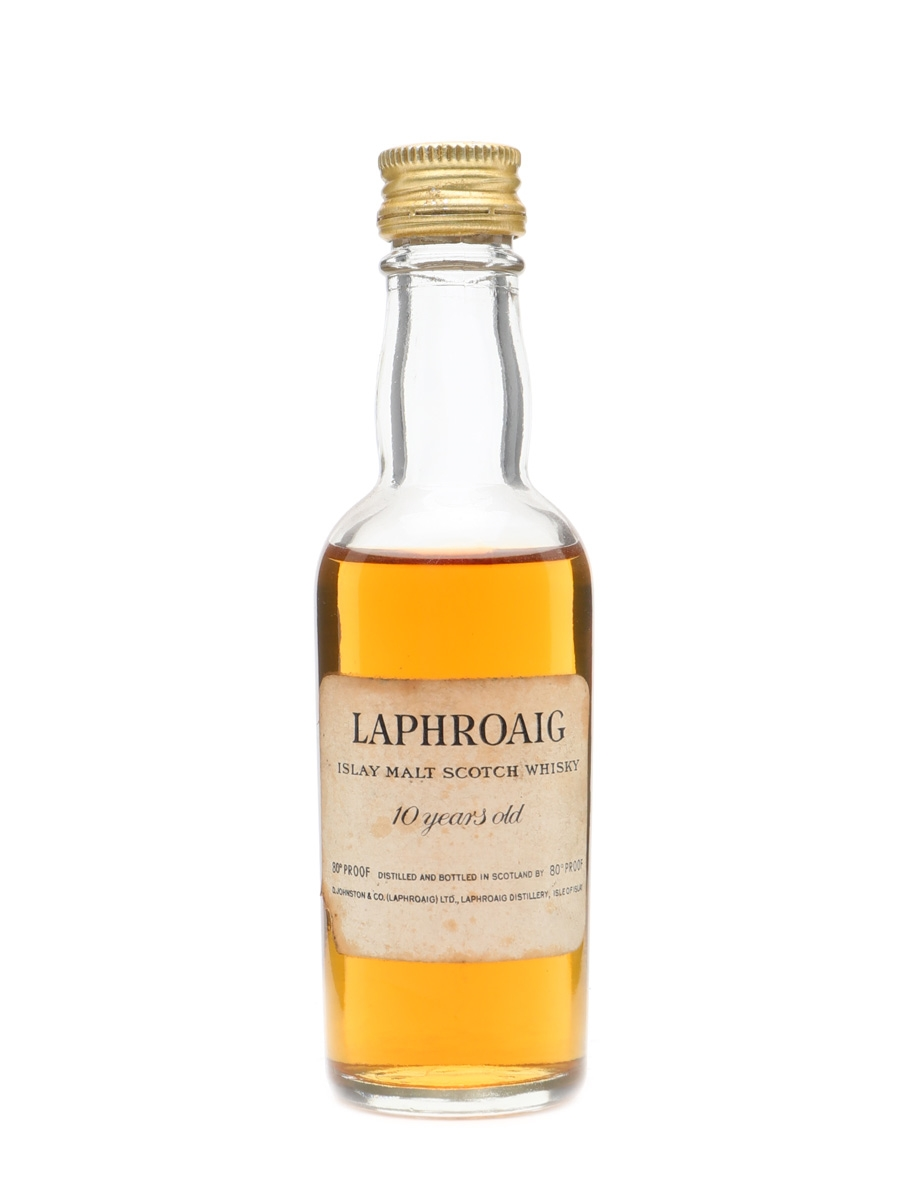 Laphroaig 10 Years Old 80 Proof Bottled 1960s 5cl