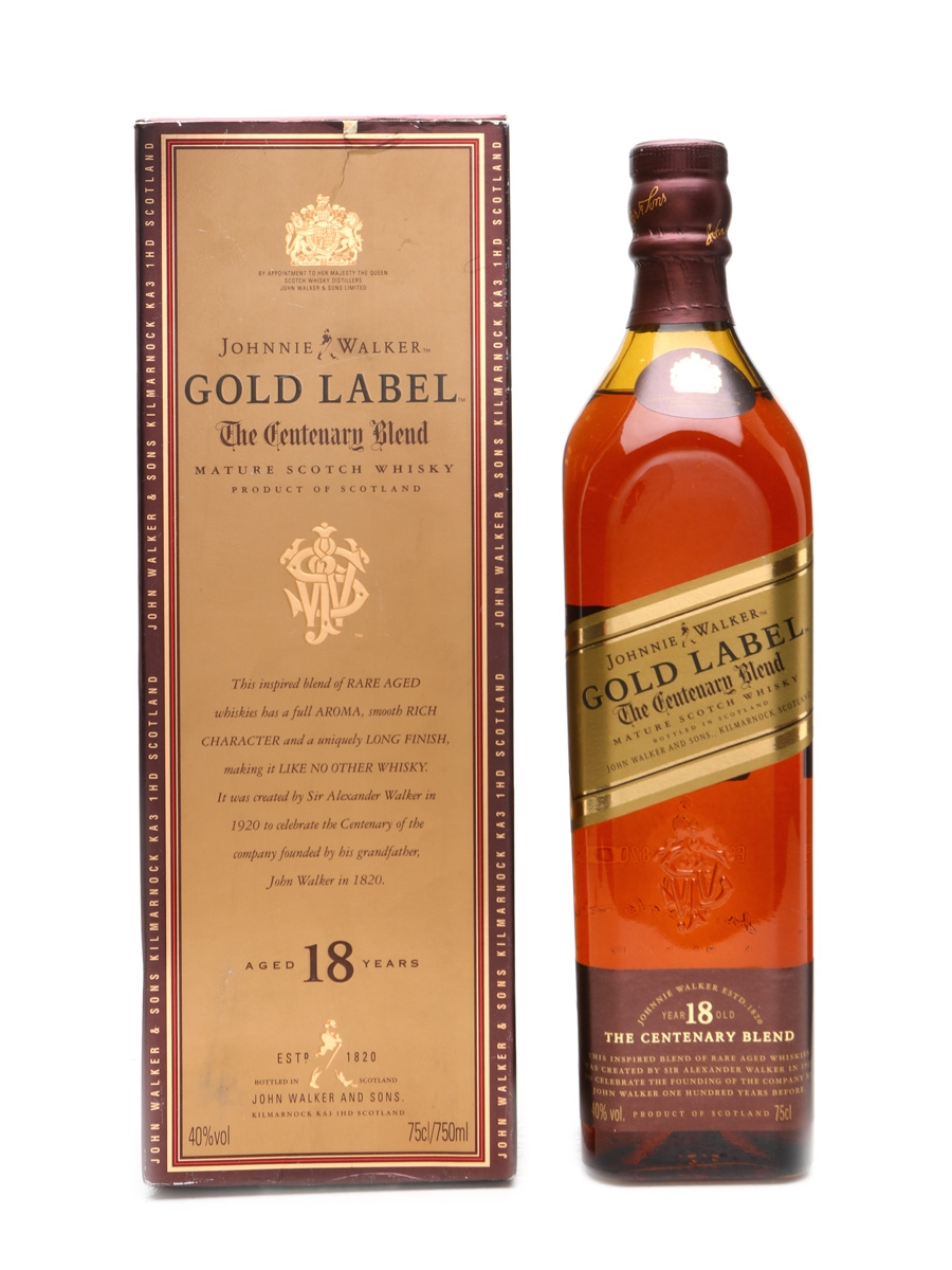 Johnnie Walker Gold Label The Centenary Blend 18 Years Old 75cl