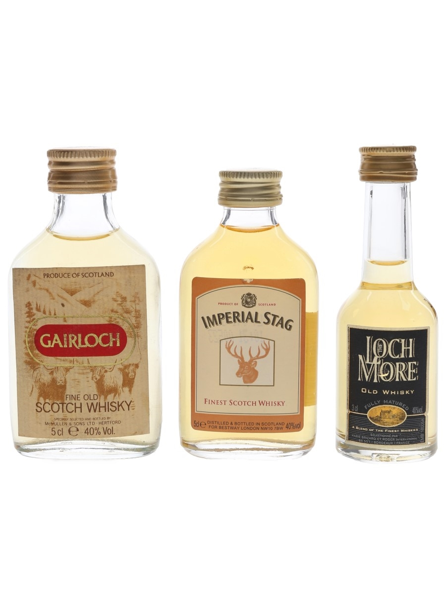 Gairloch, Imperial Stag & Loch More  3 x 3cl-5cl / 40%