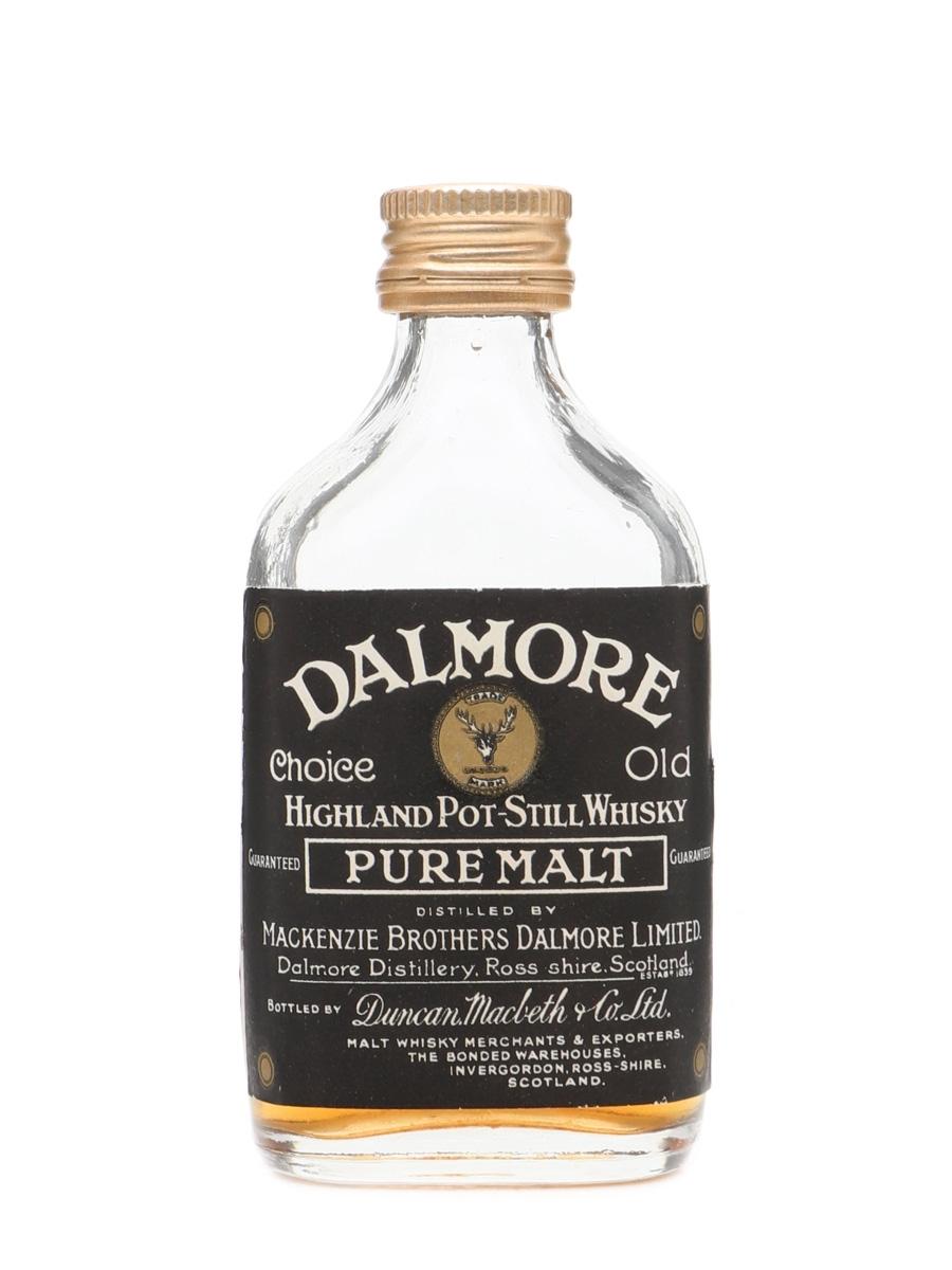 Dalmore Pure Malt - Duncan Macbeth & Co. Ltd Bottled 1960s 5cl