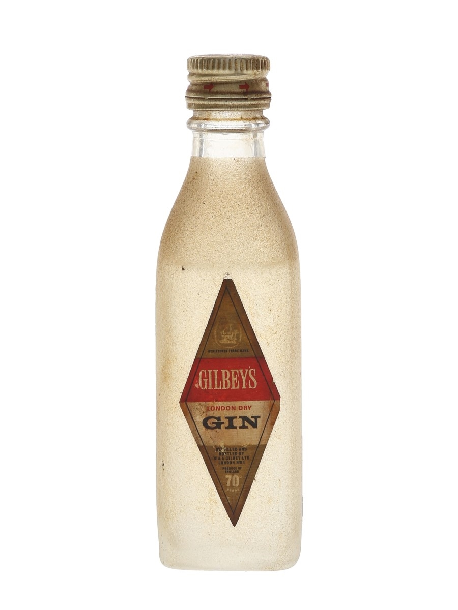 Gilbey's London Dry Gin Bottled 1960s - Cinzano 5cl / 40%