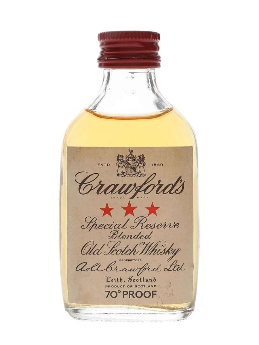 Crawford's 3 Star Bottled 1970s 5cl / 40%
