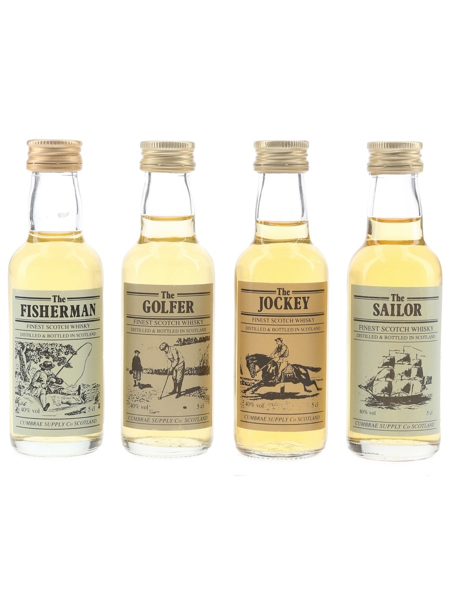 Fisherman, Golfer, Jockey & Sailor Cumbrae Supply 4 x 5cl / 40%