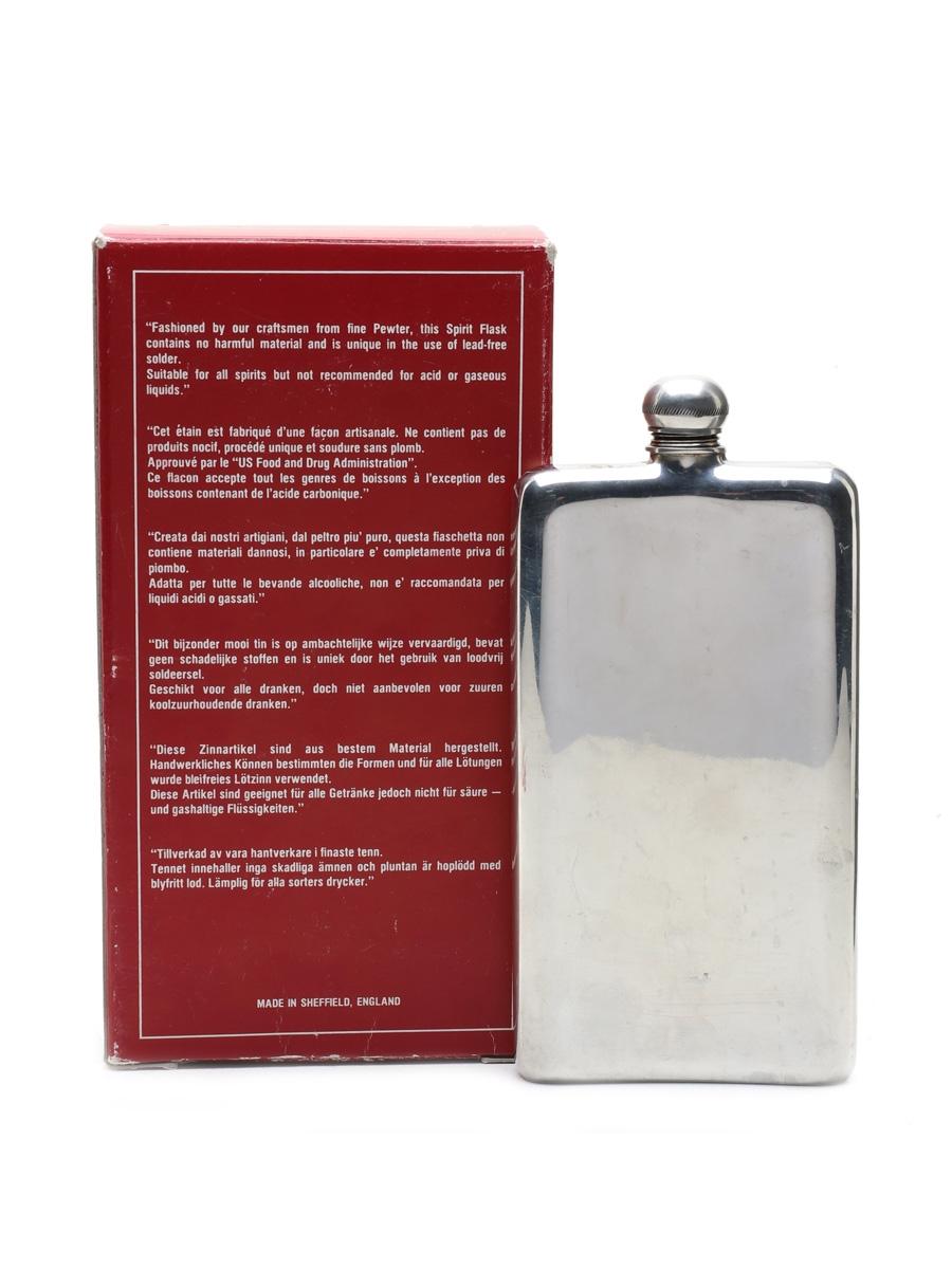 English Pewter Hip Flask 1st July 1988