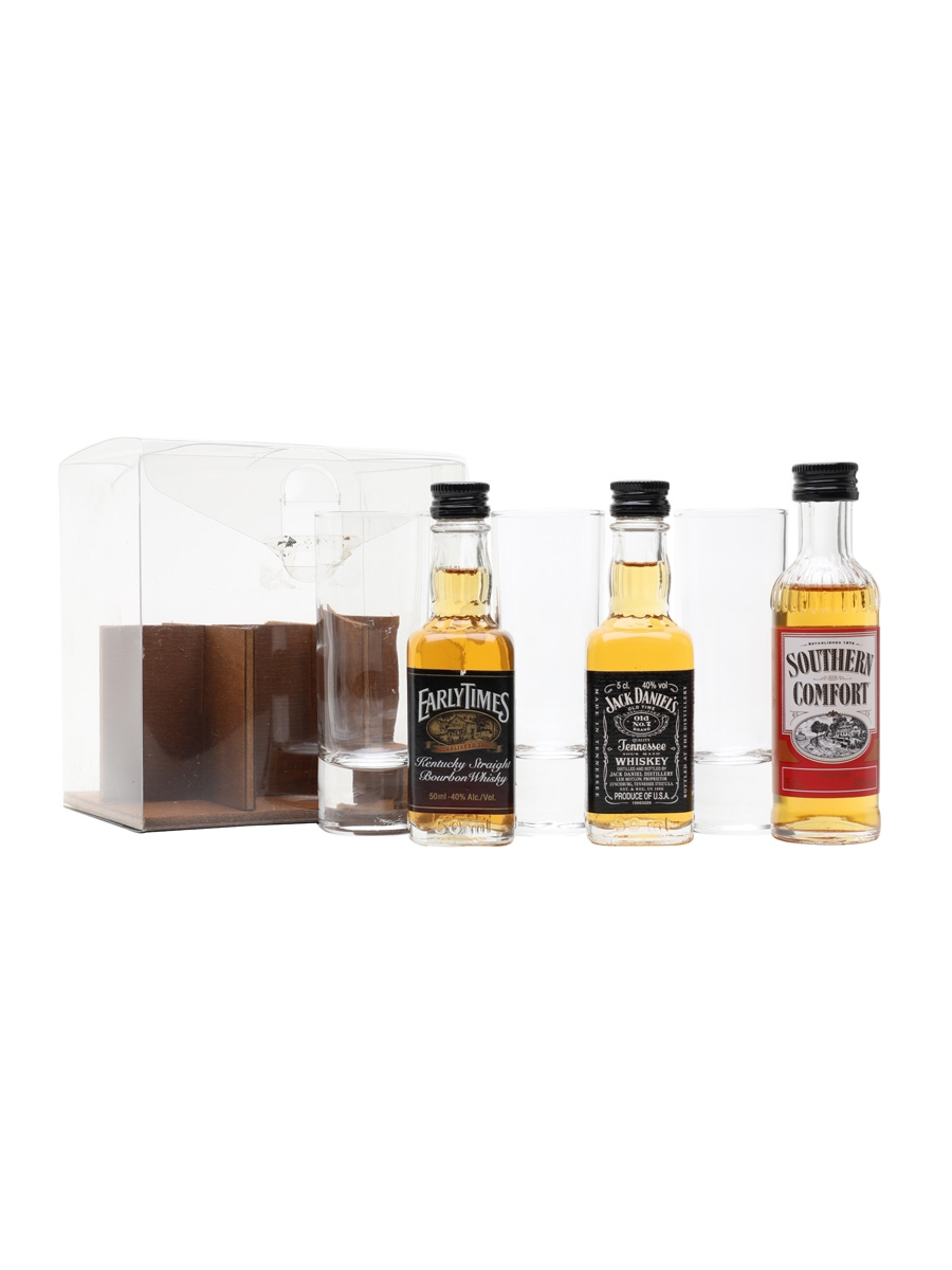 Classic Miniature Collection Set Early Times, Jack Daniel's & Southern Comfort 3 x 5cl