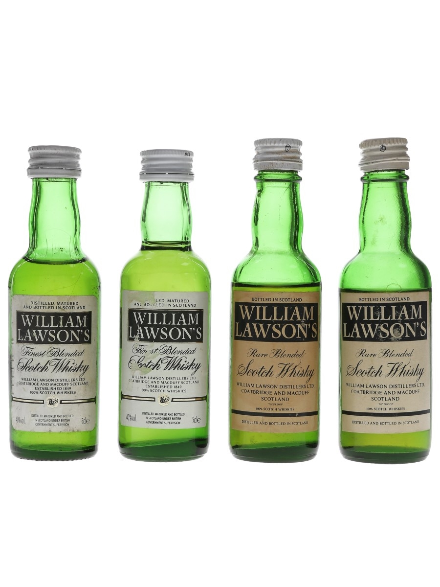 William Lawson's Bottled 1970s & 1980s 4 x 5cl