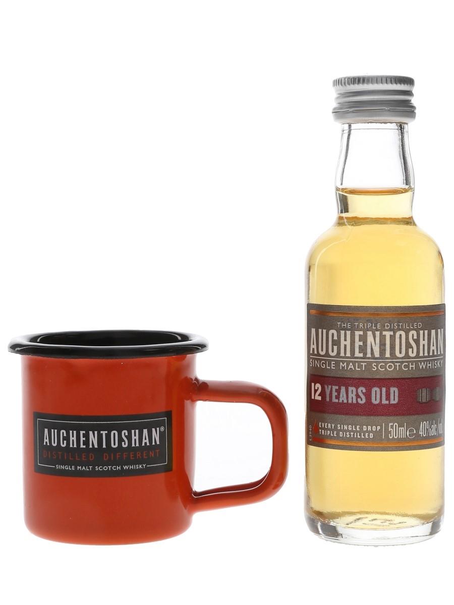 Auchentoshan 12 Year Old & Miniature Tin Mug  5cl / 40%