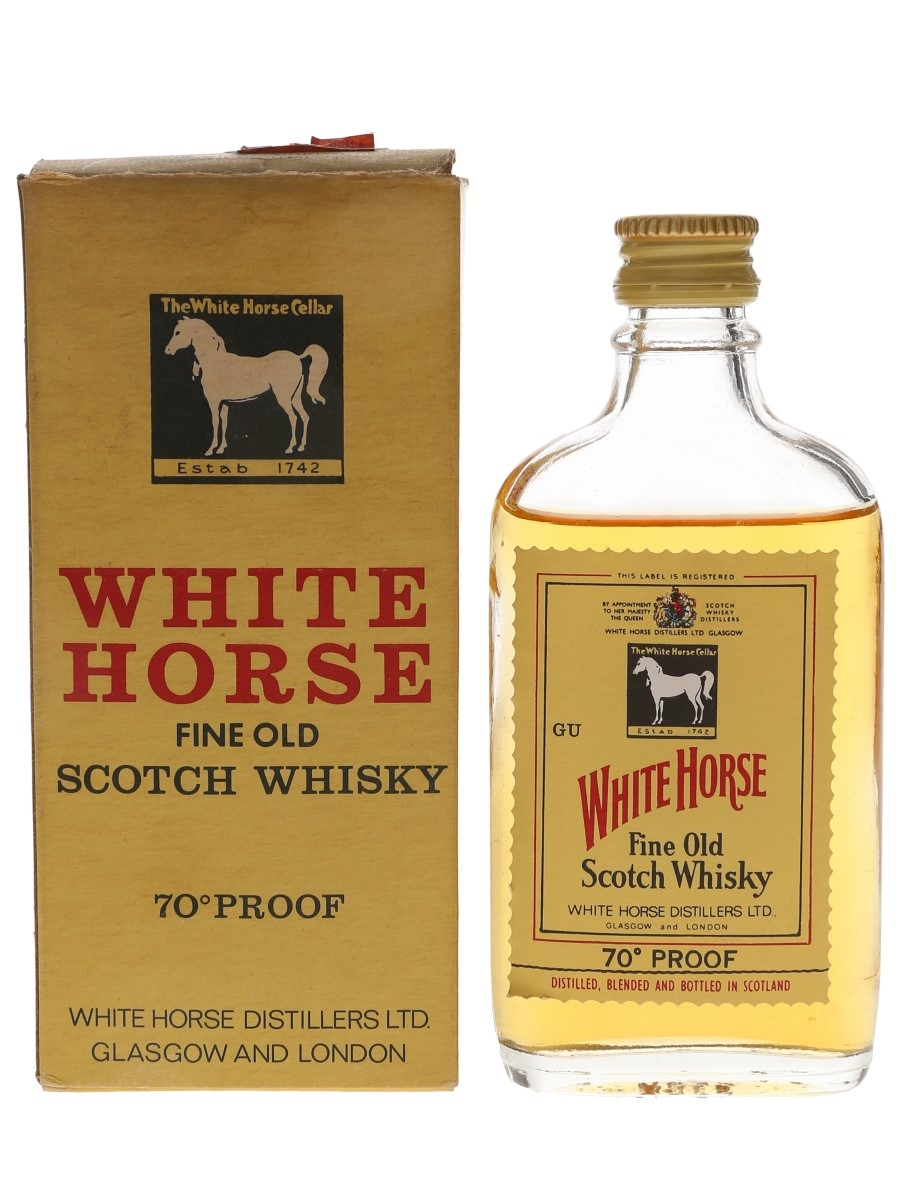 White Horse Bottled 1970s 5cl / 40%