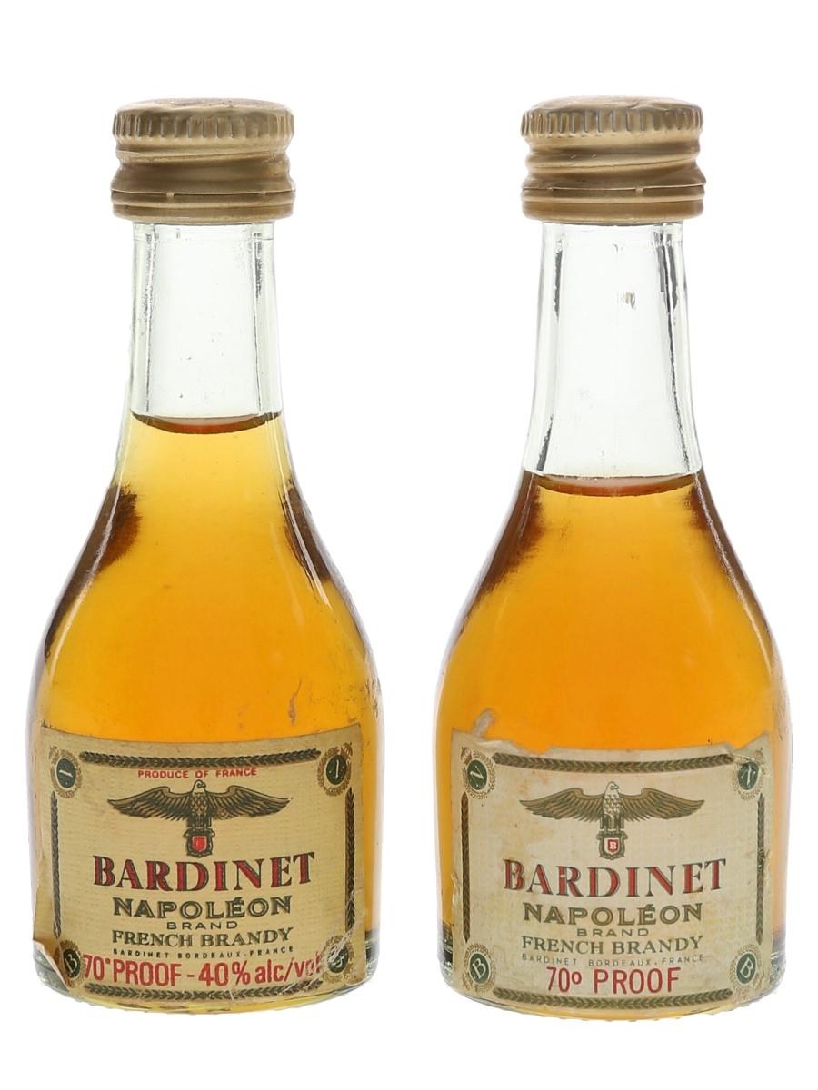 Bardinet Napoleon Brand French Brandy Bottled 1970s 2 x 3cl