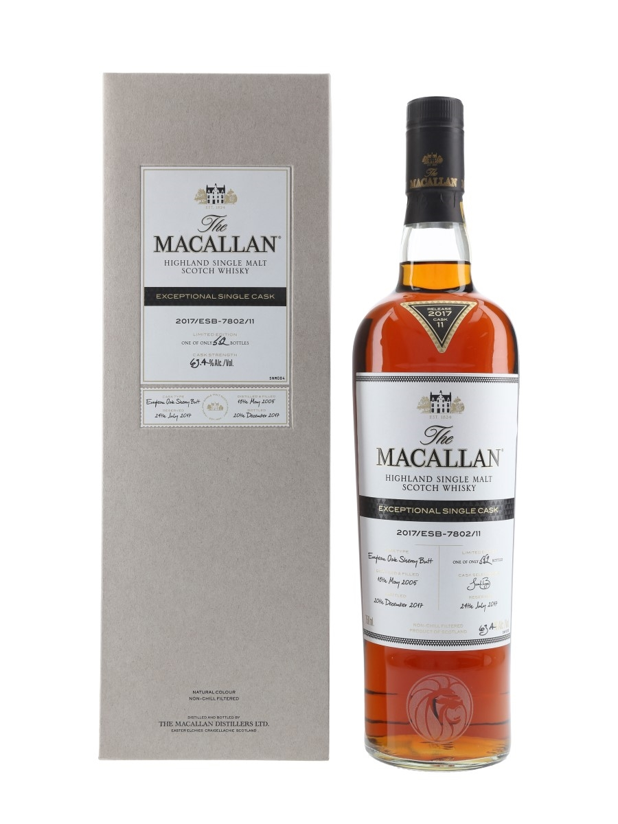 Macallan 2005 Exceptional Single Cask 11 2017 Release - US Release MGM Grand 75cl / 63.4%