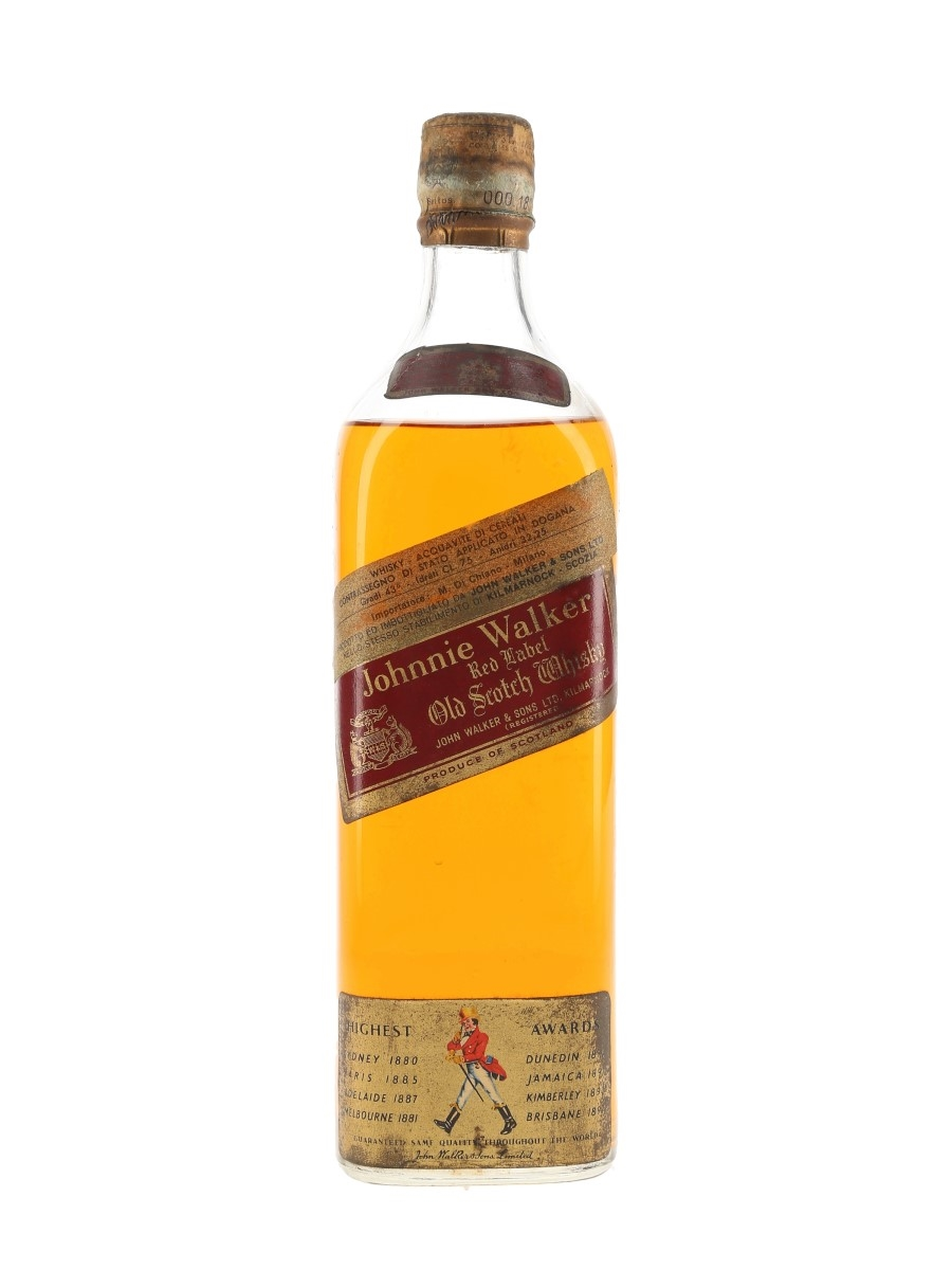 Johnnie Walker Red Label Bottled 1950s - Di Chiano 75cl / 43%