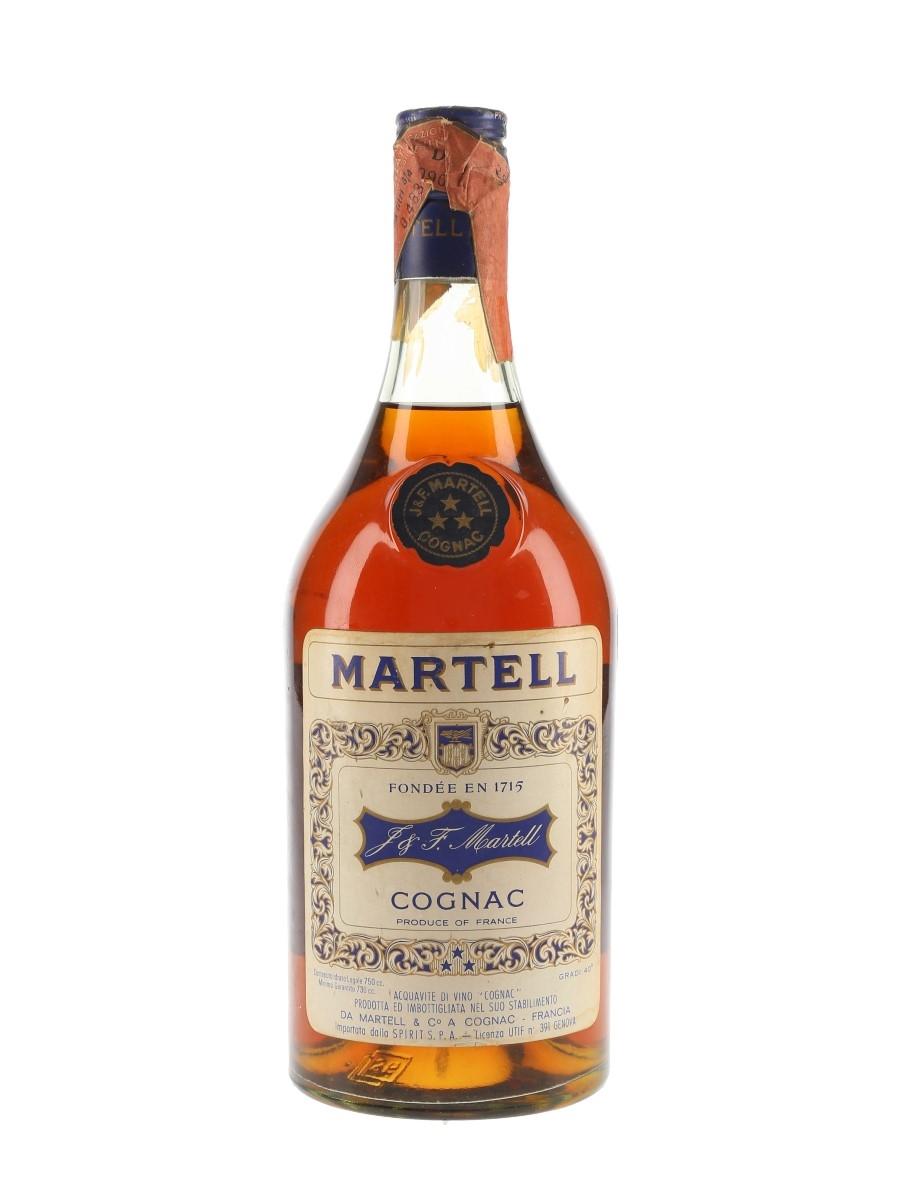 Martell 3 Star Bottled 1960s-1970s - Spirit 75cl / 40%
