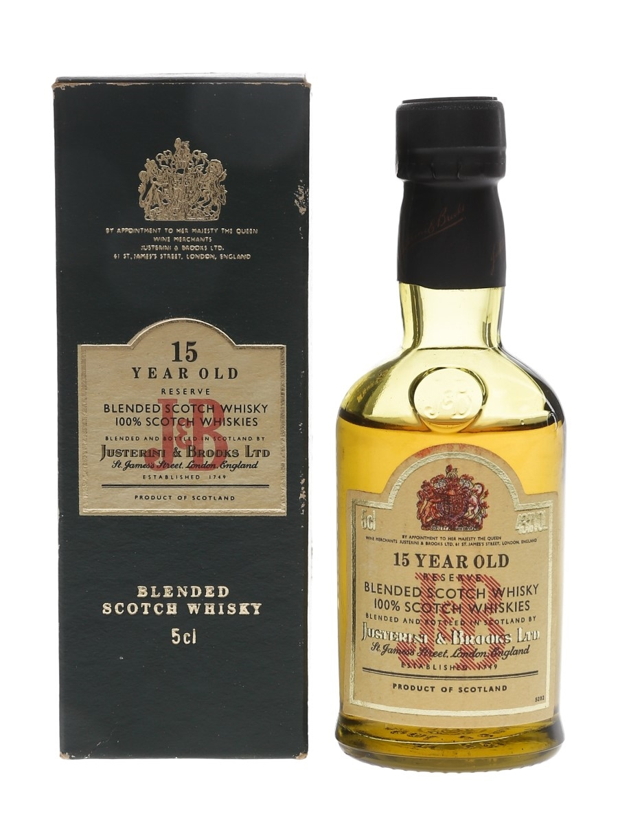 J & B 15 Year Old Reserve Bottled 1980s 5cl / 43%