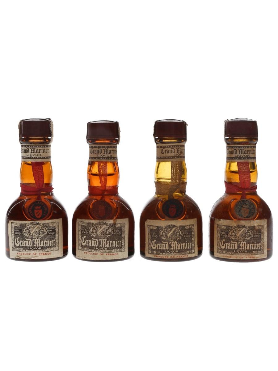 Grand Marnier Cordon Jaune & Rouge Bottled 1970s - L Rose & Co. 4 x 3cl / 38.8%