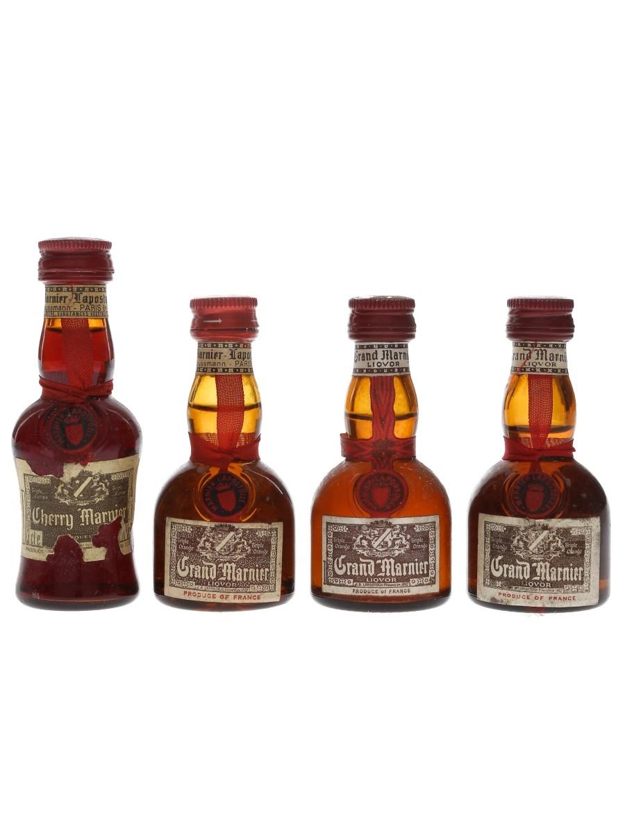 Grand Marnier & Cherry Marnier Bottled 1970s 4 x 3cl