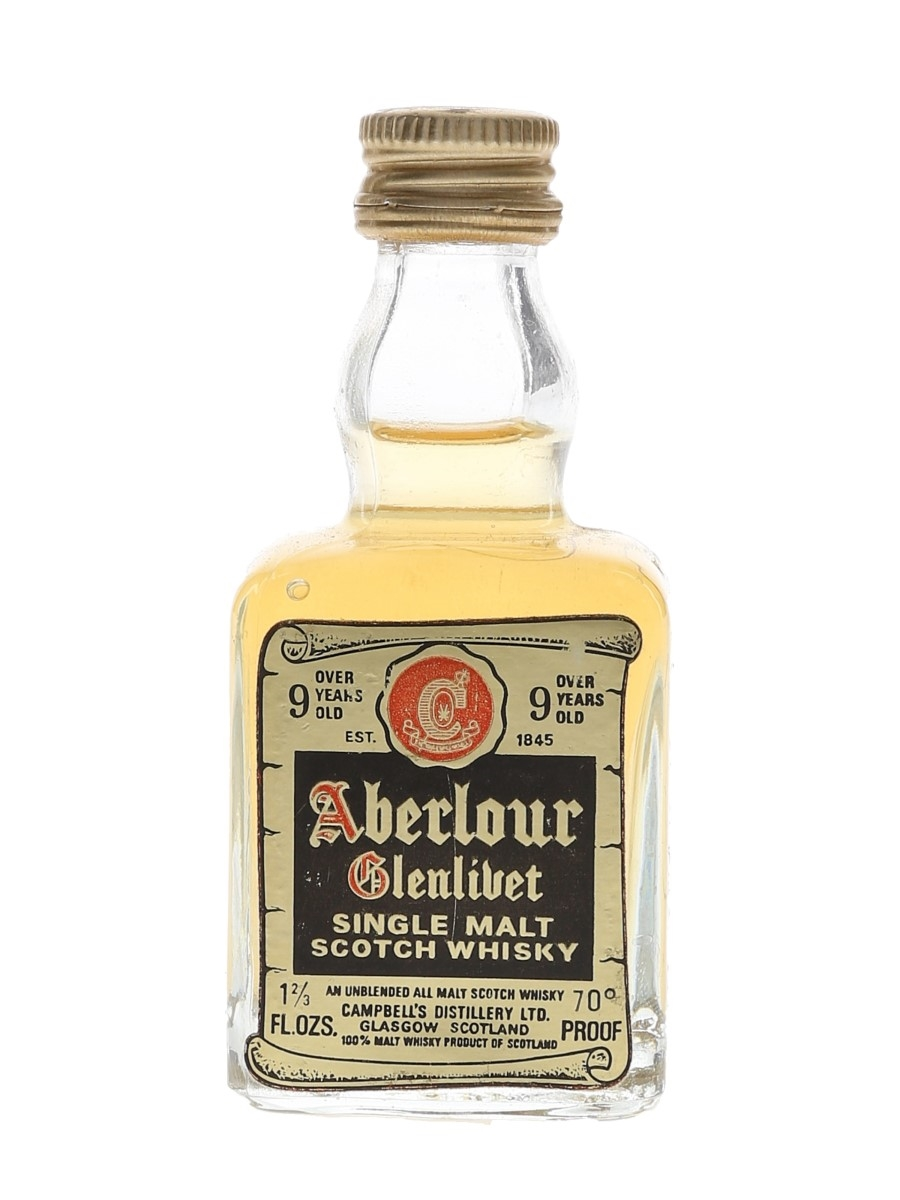 Aberlour Glenlivet 9 Year Old Bottled 1970s 4.7cl / 40%