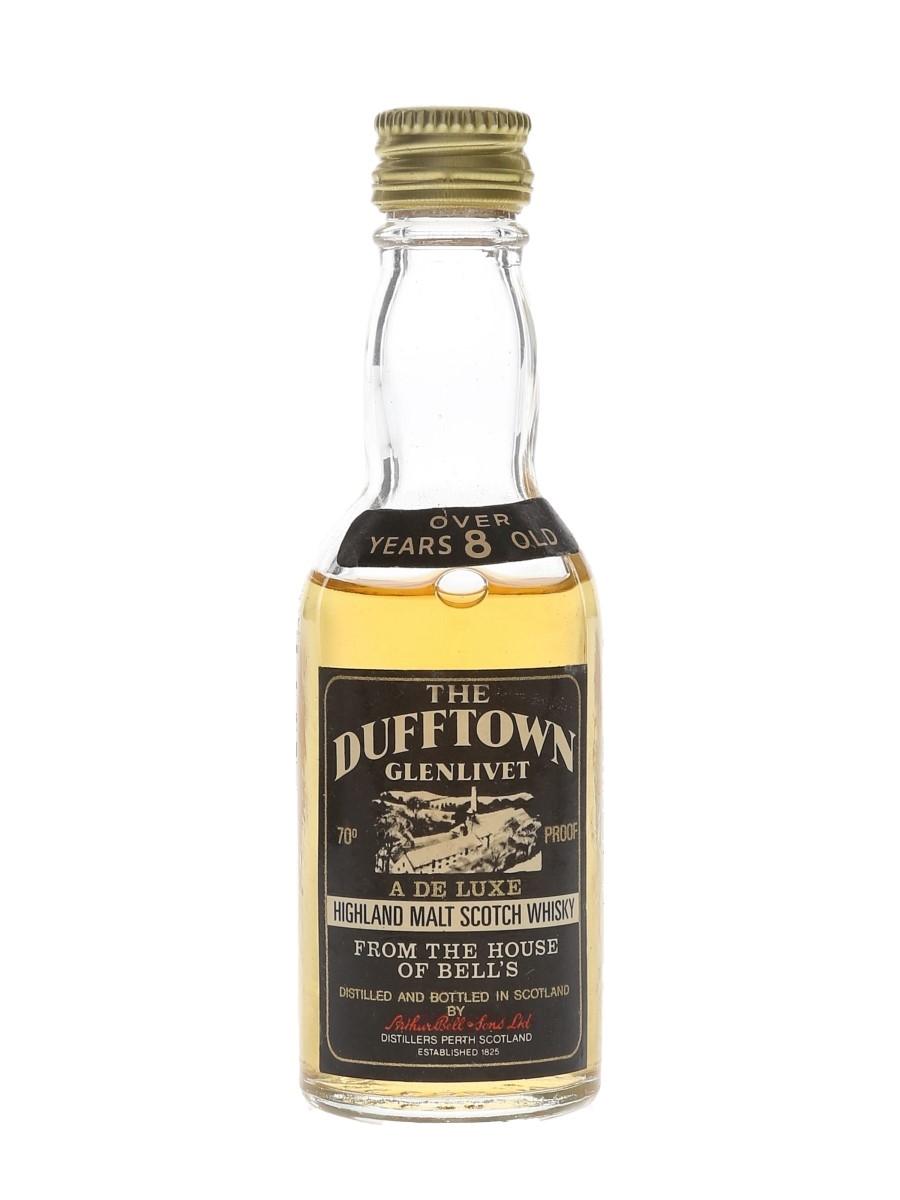 Dufftown Glenlivet 8 Year Old Bottled 1970s - Arthur Bell & Sons 5cl / 40%