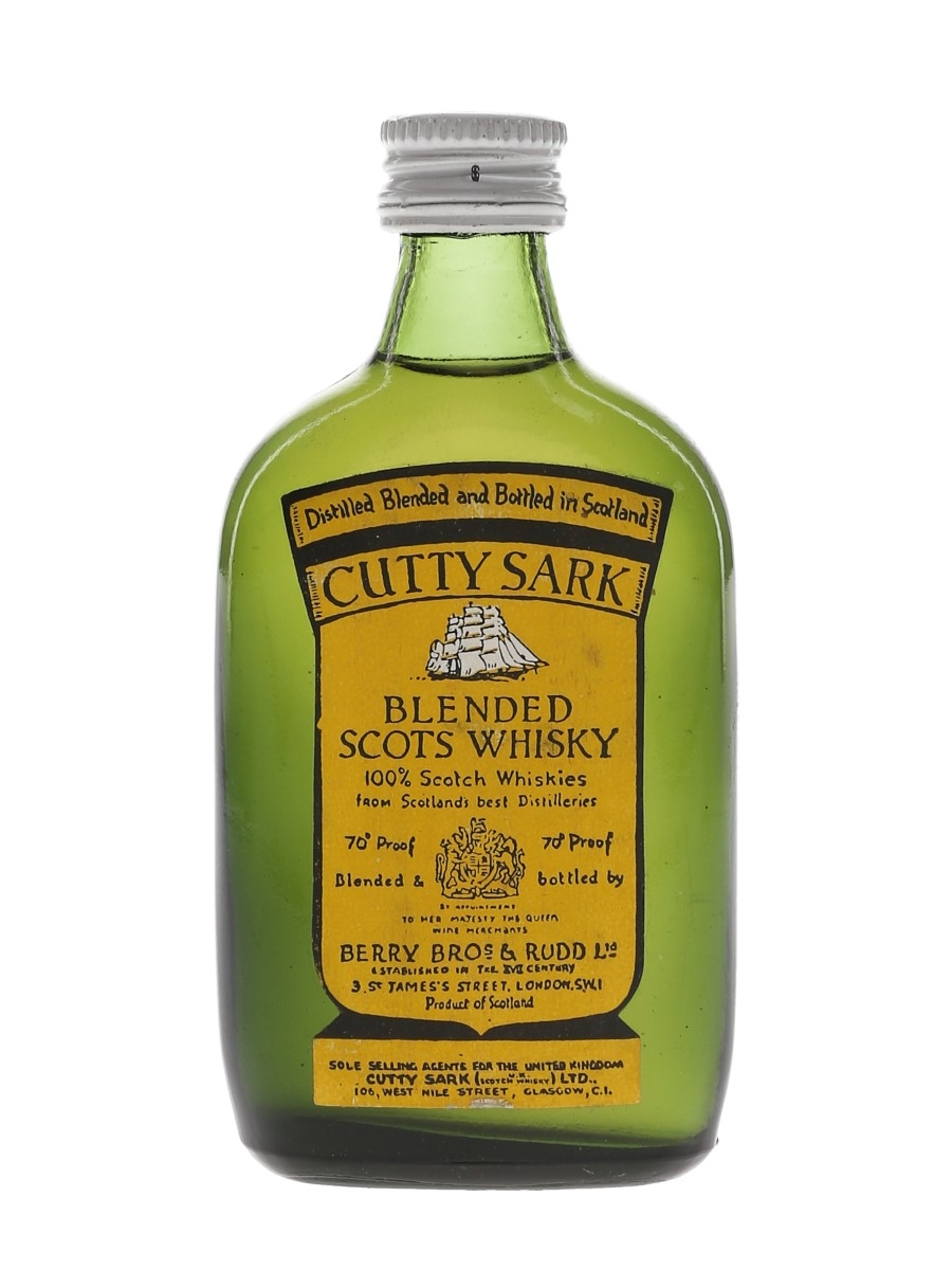 Cutty Sark Bottled 1960s - Berry Bros 5cl / 40%