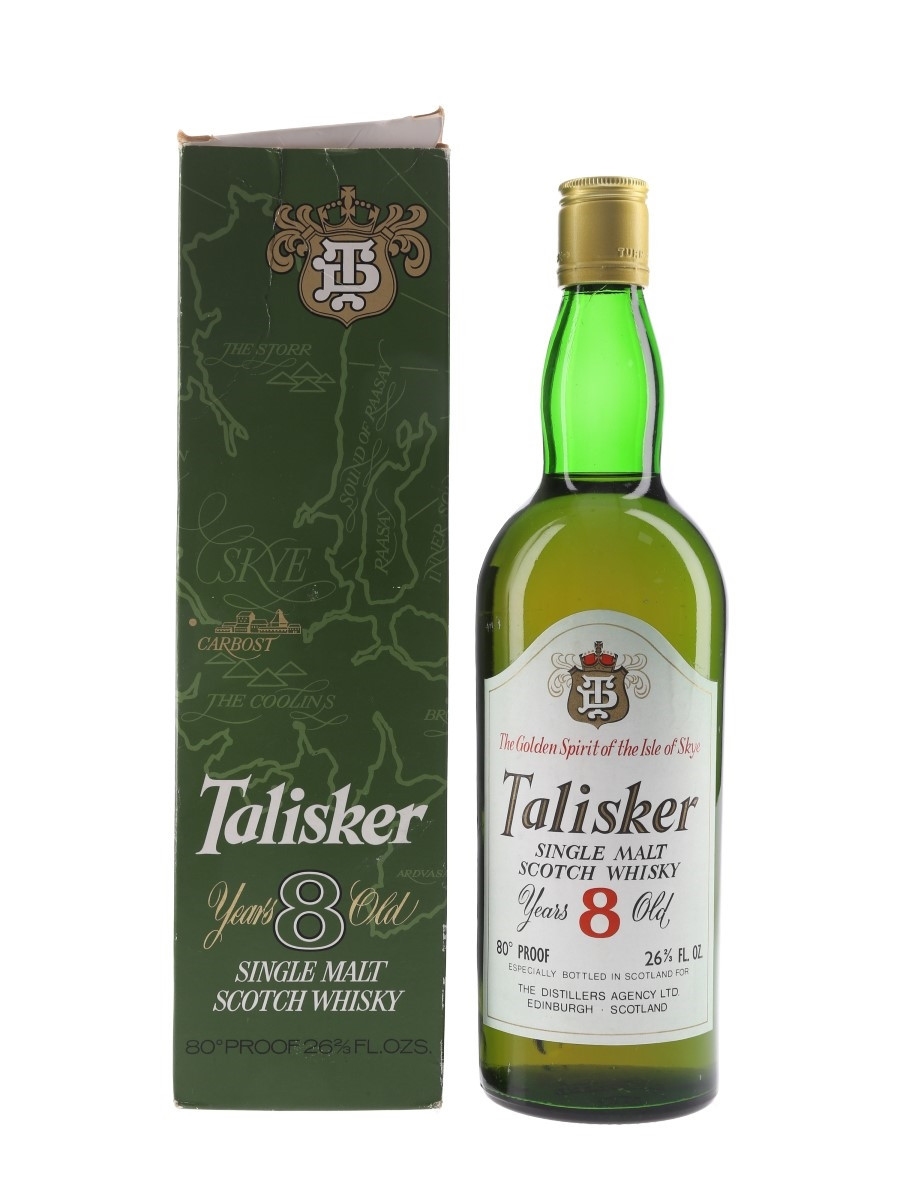 Talisker 8 Year Old Bottled 1970s - The Distiller's Agency Ltd 75.7cl / 46%