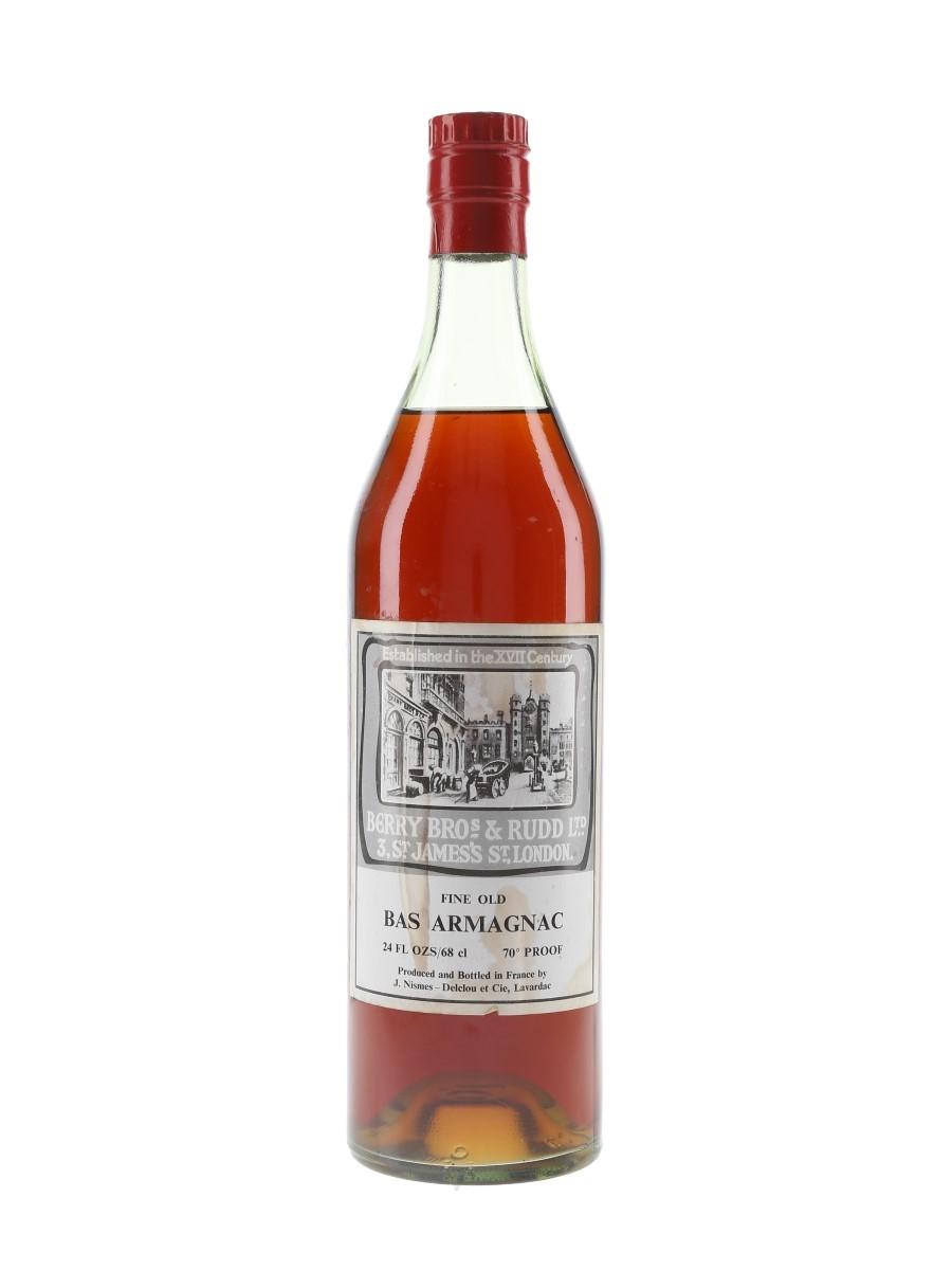 Nismes Delclou Fine Old Bas Armagnac Bottled 1970s - Berry Bros & Rudd 68cl / 40%