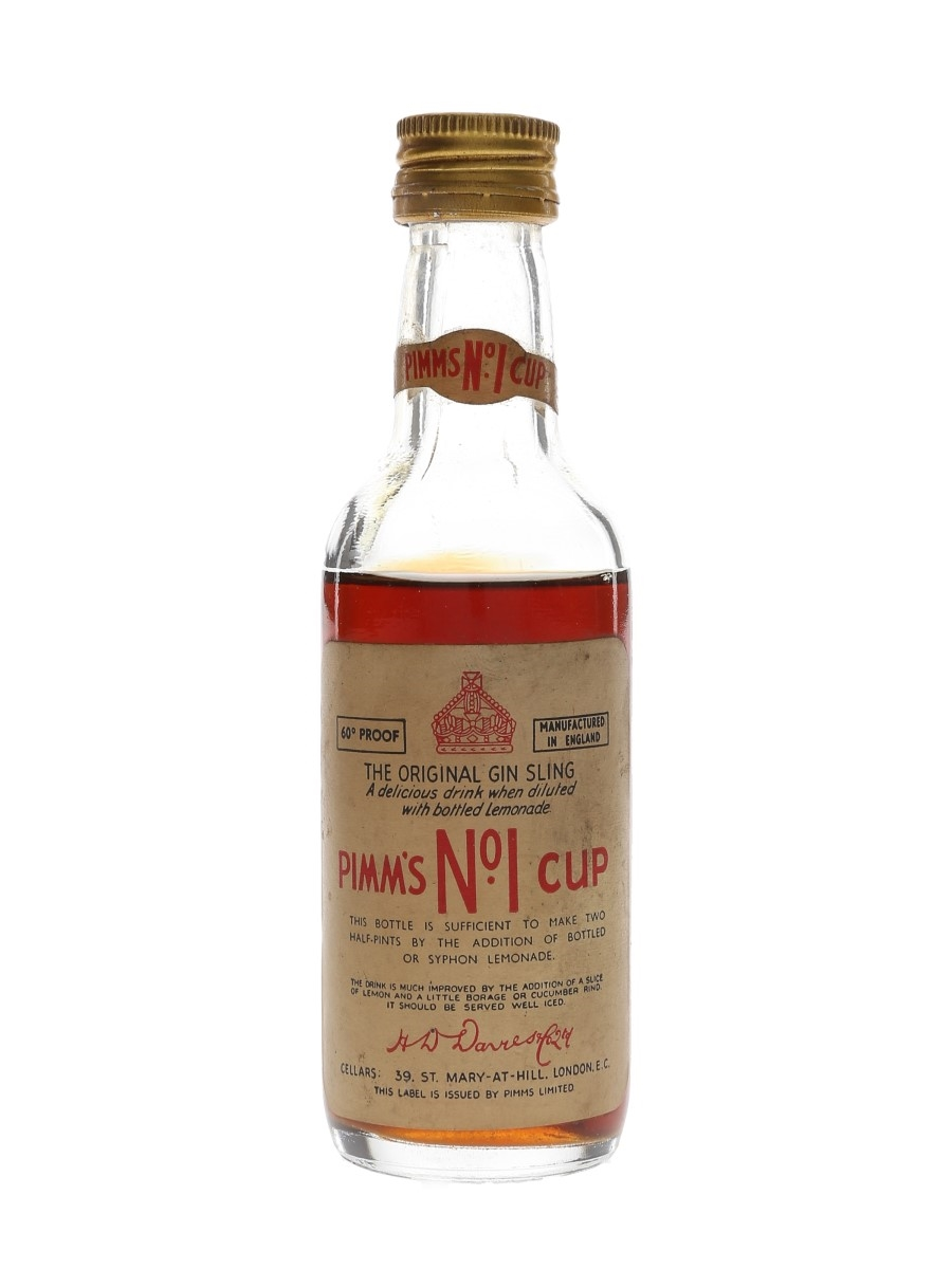Pimm's No.1 Cup Bottled 1960s 10cl / 34%