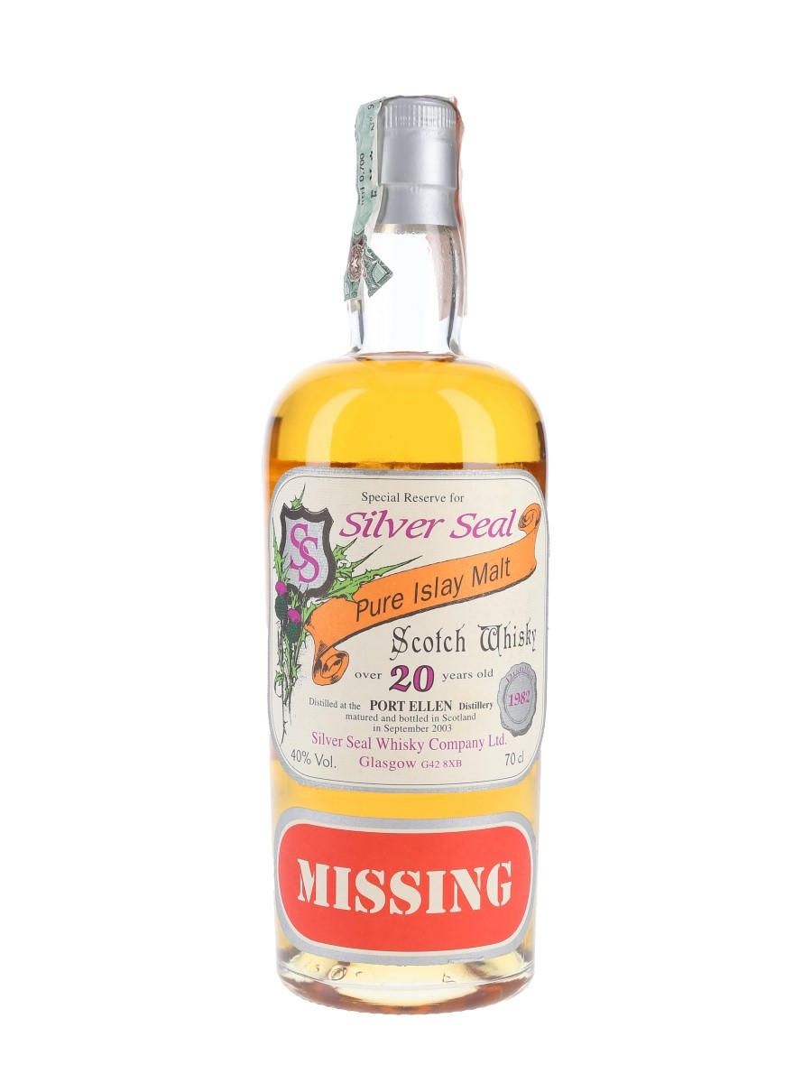 Port Ellen 1982 20 Year Old - Missing Bottled 2003 - Silver Seal 70cl / 40%