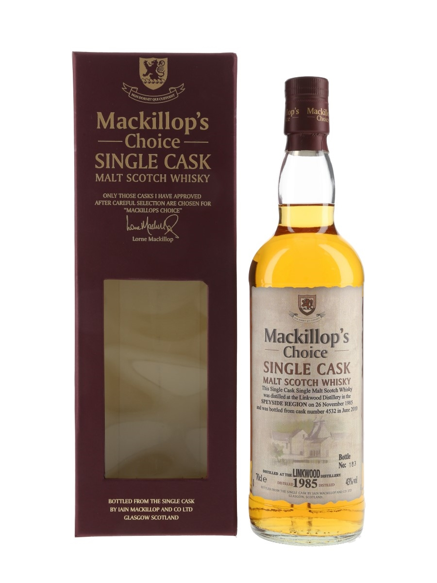 Linkwood 1985 Mackillop's Choice Bottled 2010 70cl / 43%