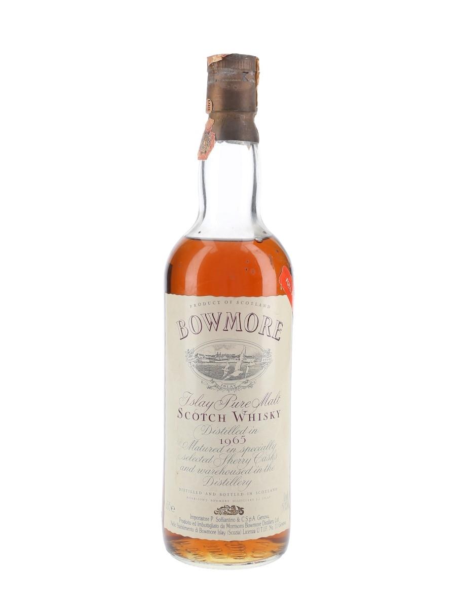 Bowmore 1965 Full Strength Bottled 1980s - Soffiantino 75cl / 50%