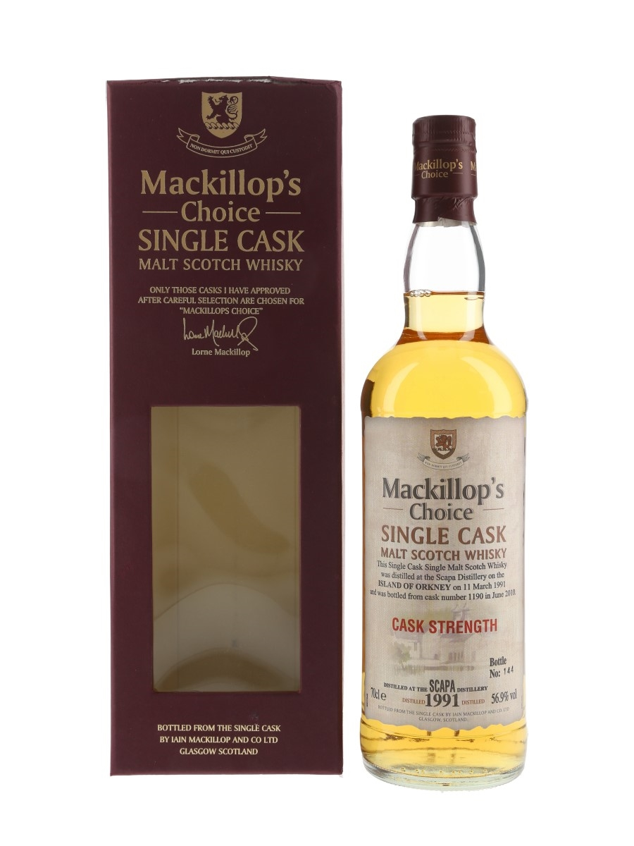 Scapa 1991 Mackillop's Choice Bottled 2010 70cl / 56.9%