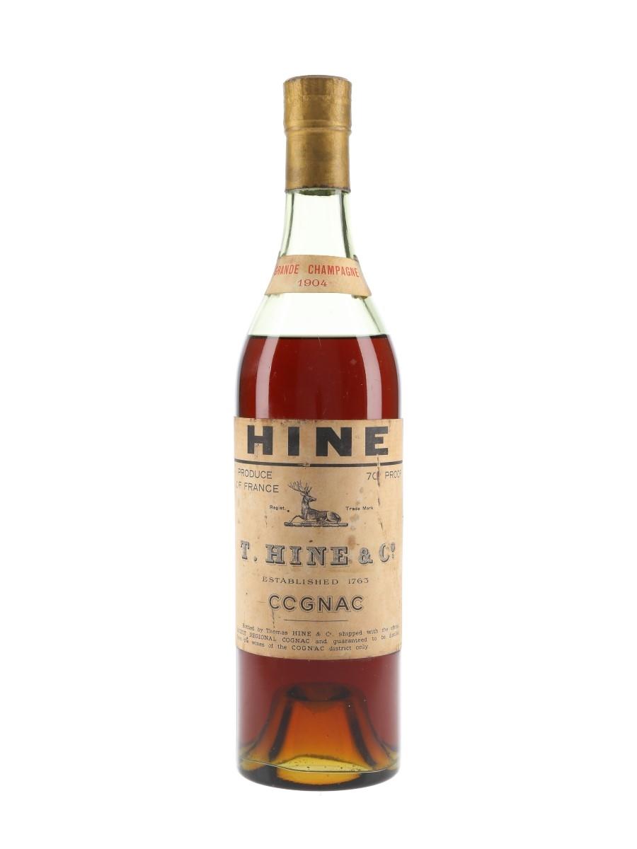 Hine 1904 Grande Champagne Cognac Bottled 1960s 70cl / 40%