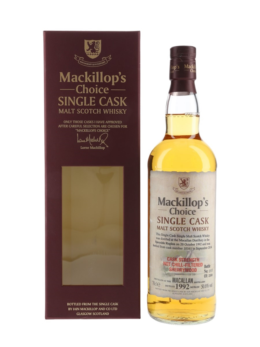 Macallan 1992 Mackillop's Choice Bottled 2014 70cl / 50.8%