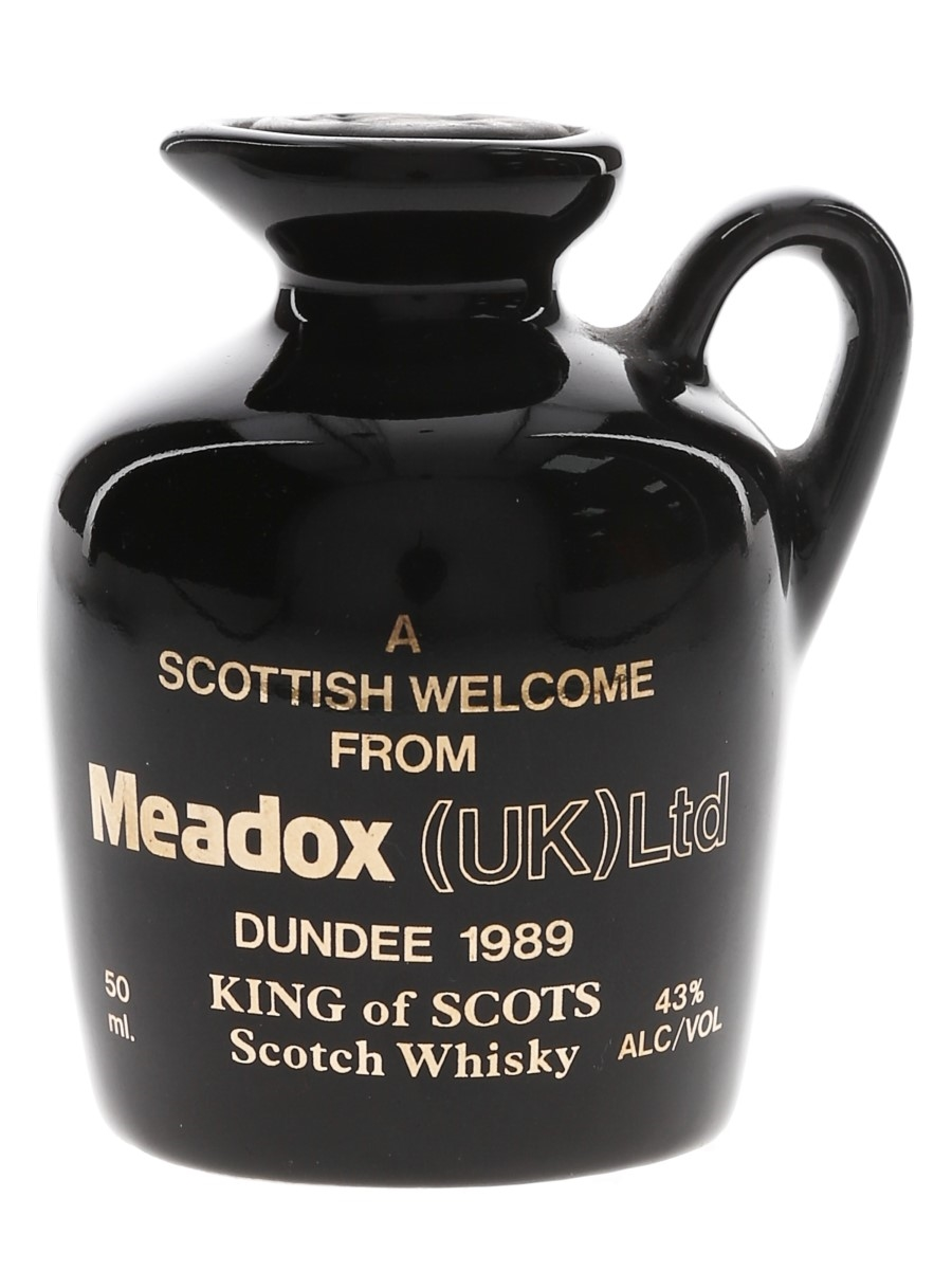 King of Scots Meadox 1989 Dundee Ceramic Decanter  5cl / 43%