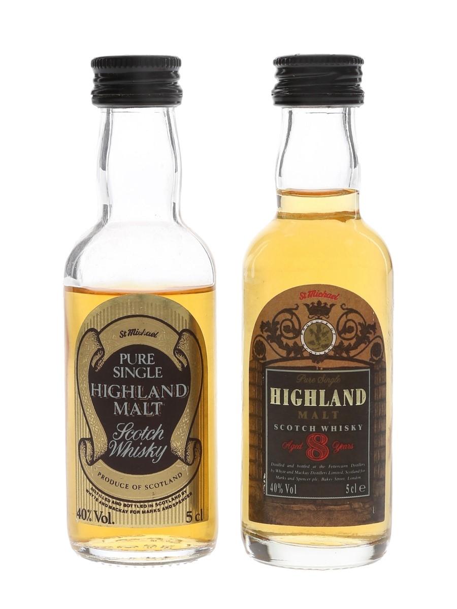 St Michael Highland Single Malt Whyte And Mackay - Marks & Spencer 2 x 5cl / 40%