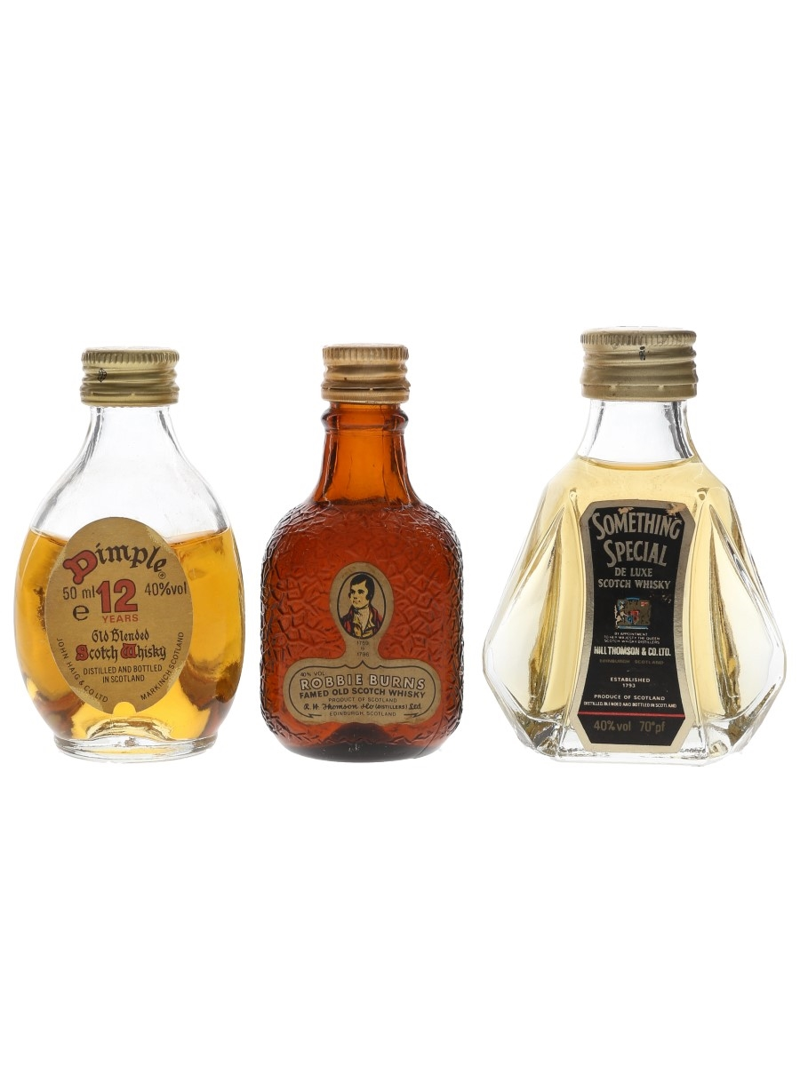 Dimple, Robbie Burns & Something Special Bottled 1970s & 1980s 3 x 5cl / 40%