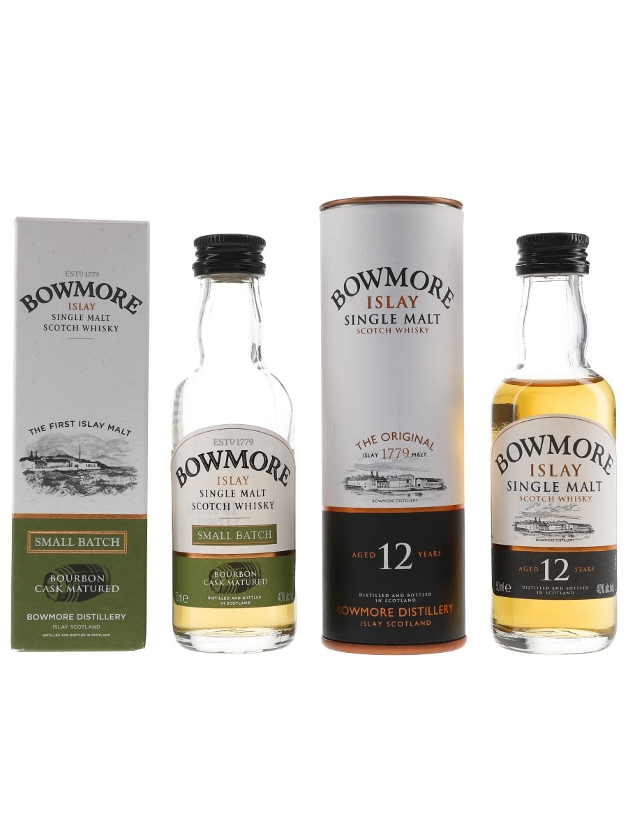 Bowmore Small Batch & 12 Year Old  2 x 5cl / 40%