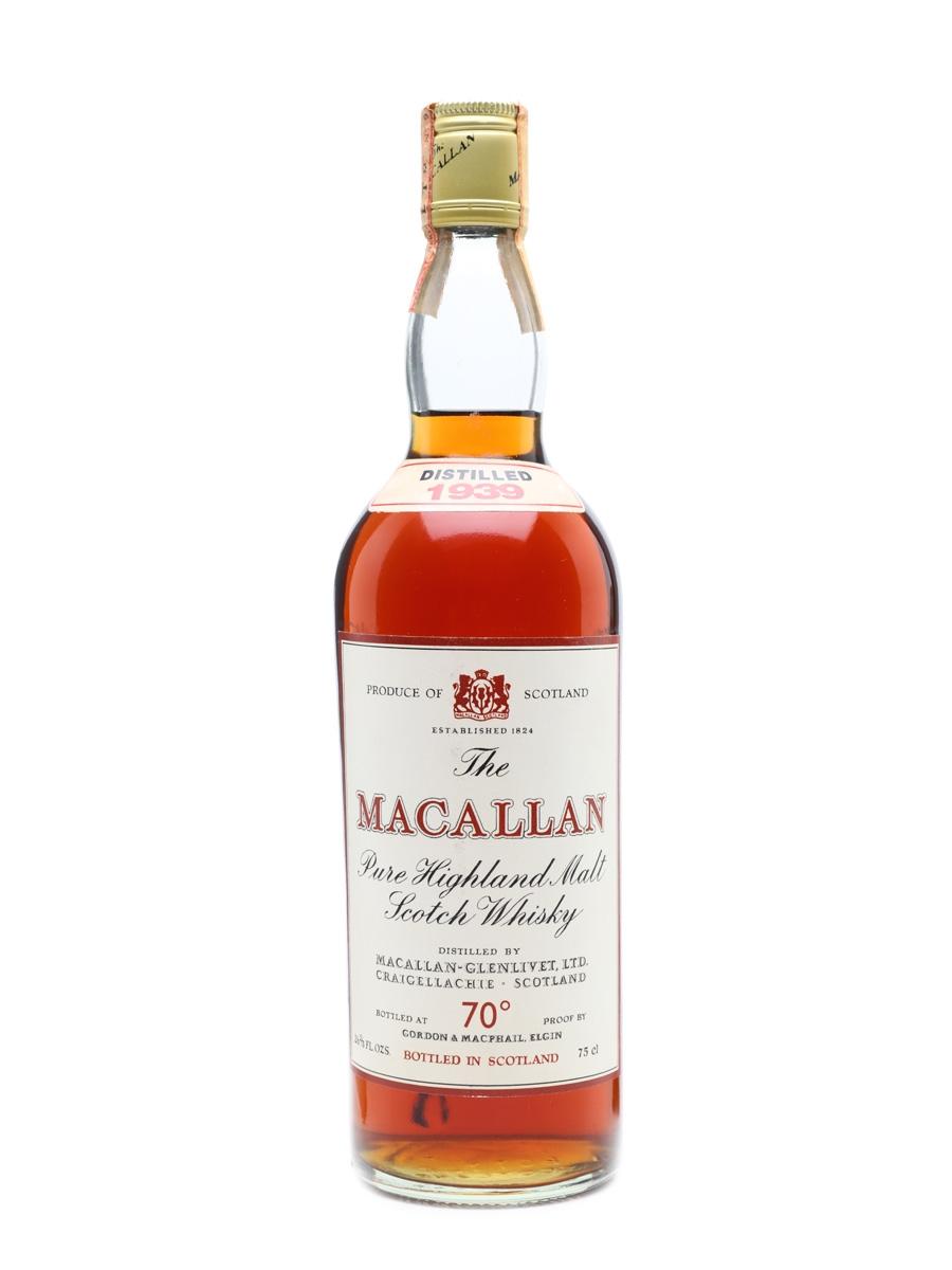 Macallan 1939 Gordon & MacPhail Bottled 1970s 75cl