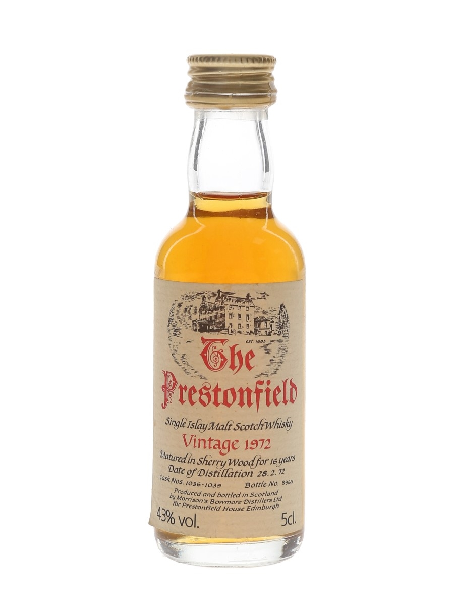Prestonfield Islay 1972 Bowmore 16 Year Old 5cl / 43%