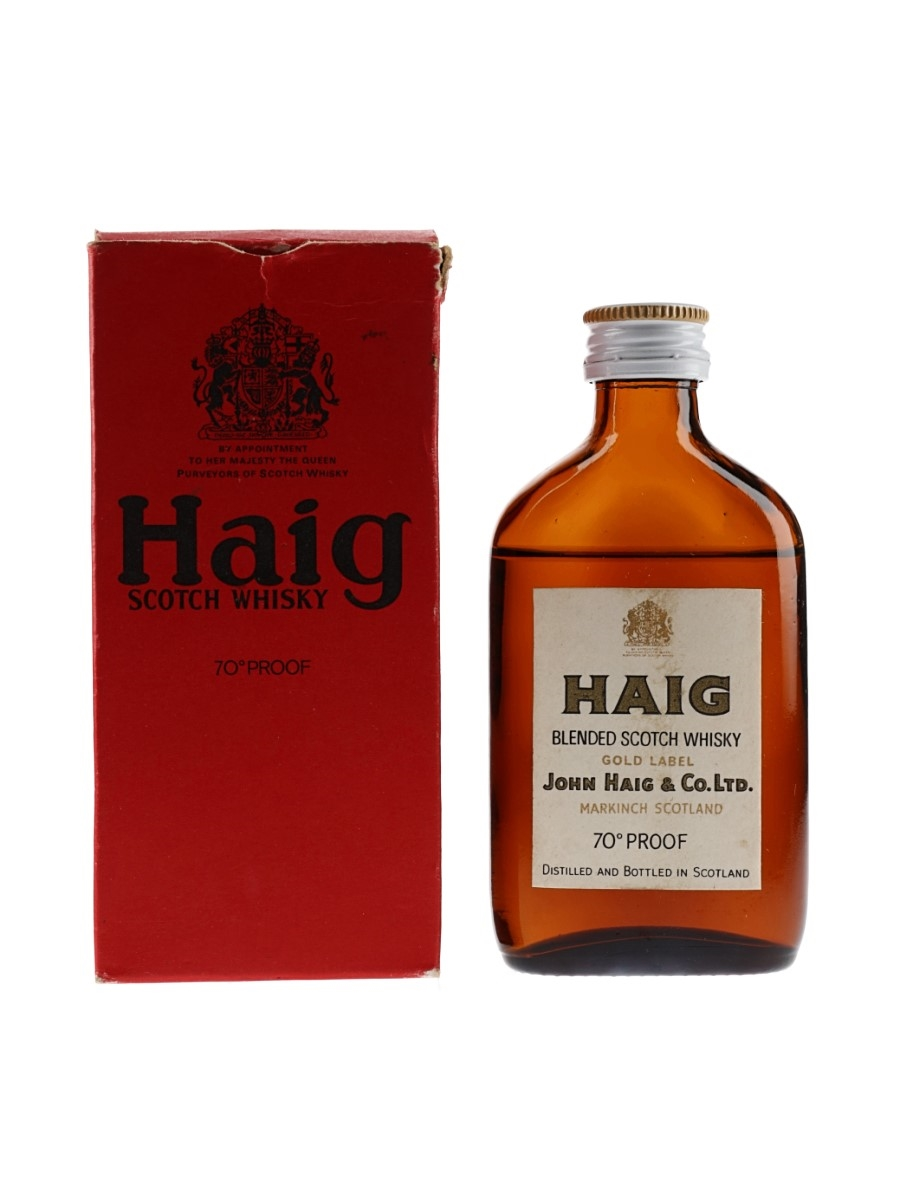 Haig Gold Label Bottled 1960s 5cl / 40%