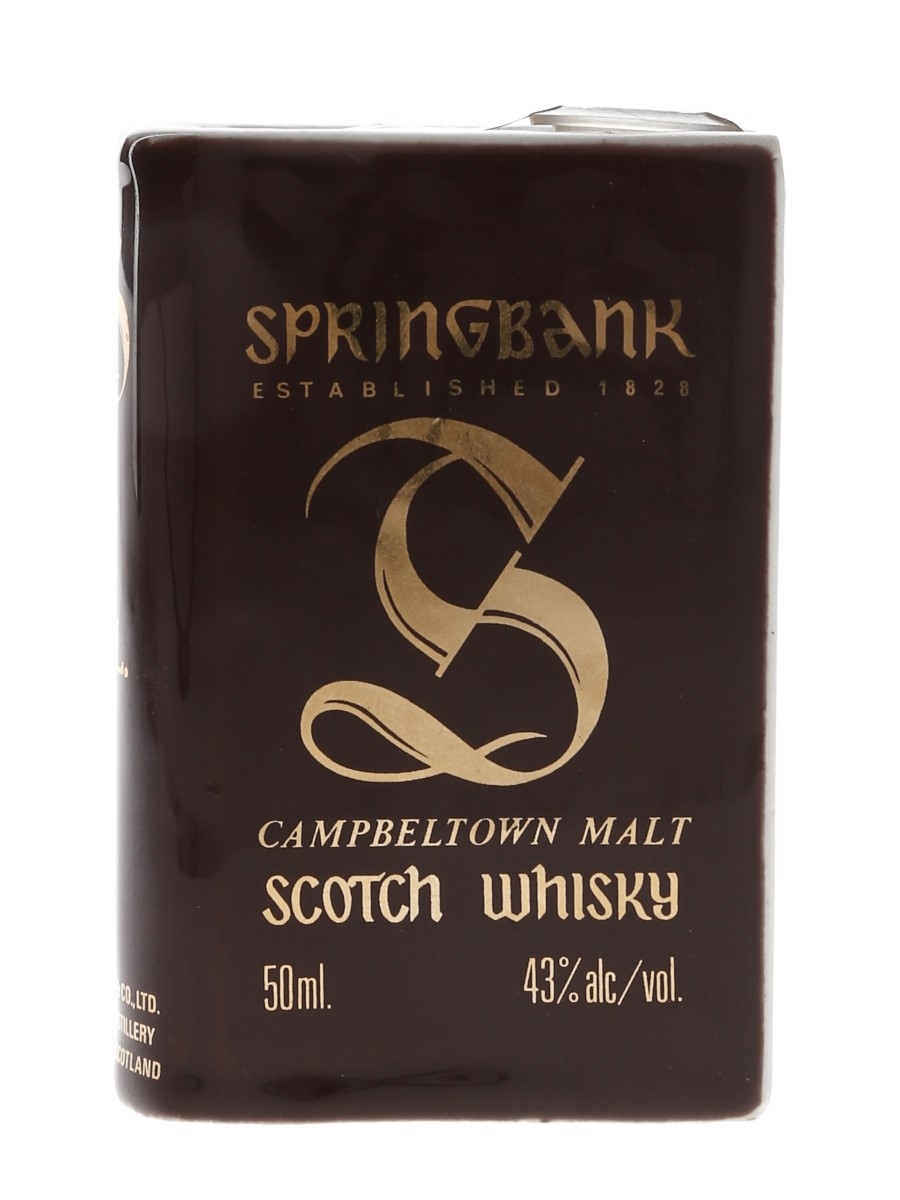 Springbank Volume II Bottled 1980s - Ceramic Book 5cl / 43%