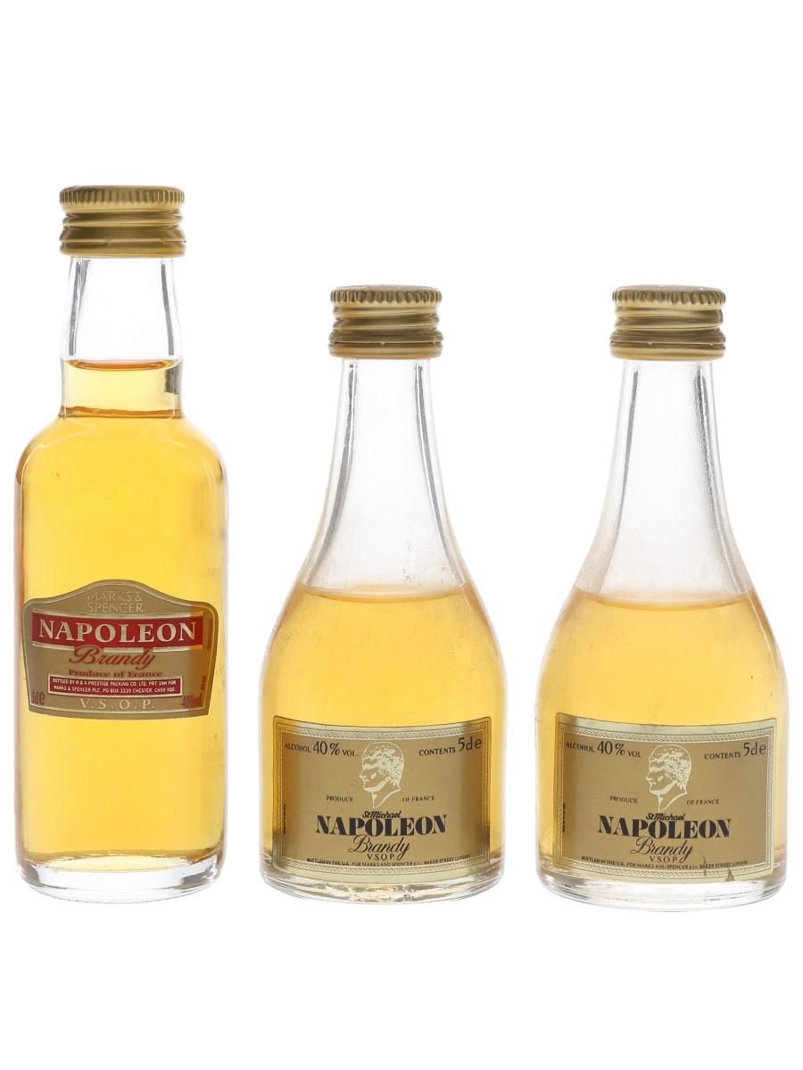 Marks & Spencer Napoleon Brandy  3 x 5cl / 40%