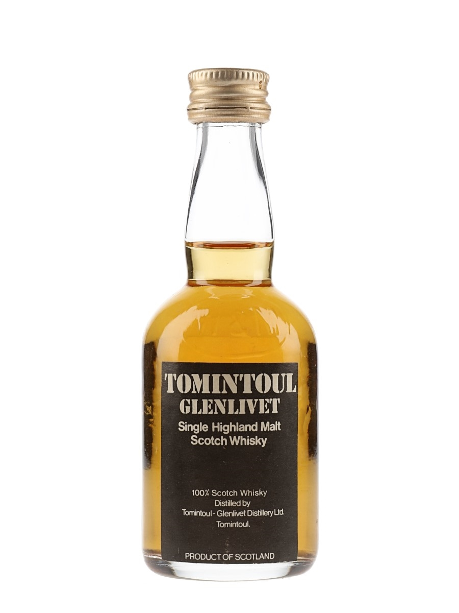 Tomintoul Glenlivet Bottled 1970s 5cl / 40%