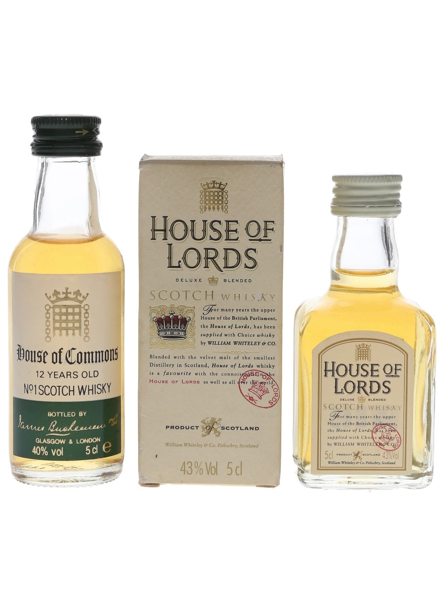 House Of Commons & House Of Lords Bottled 1980s-1990s 2 x 5cl