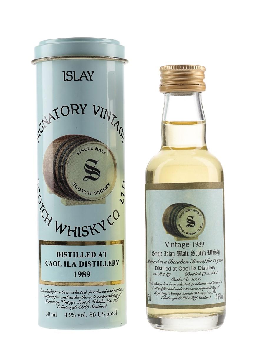 Caol Ila 1989 11 Year Old Cask 1005 Bottled 2001 - Signatory Vintage 5cl / 43%