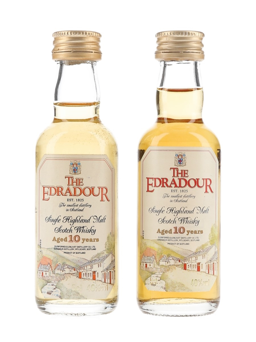 Edradour 10 Year Old Bottled 1990s 2 x 5cl / 40%