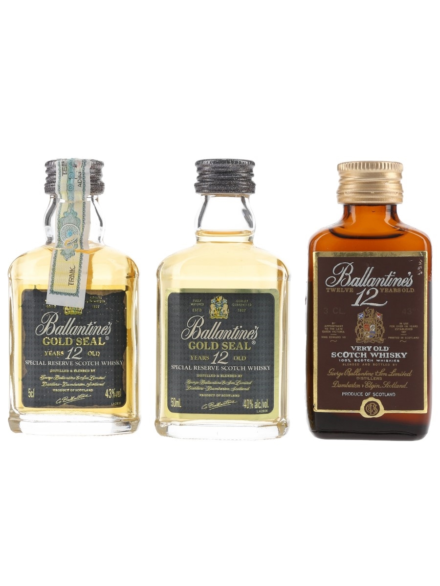 Ballantine's 12 Year Old  3 x 3cl-5cl