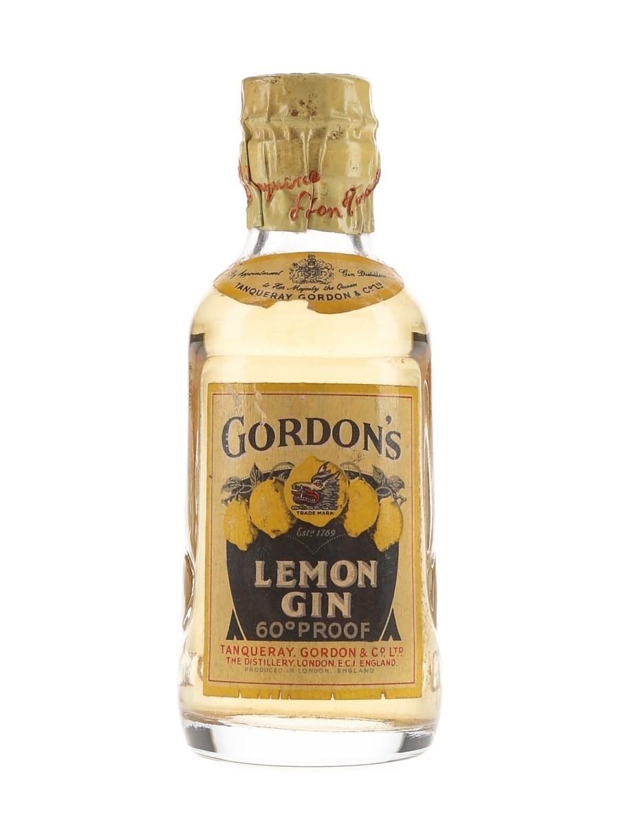 Gordon's Lemon Gin Spring Cap Bottled 1950s 5cl / 34%