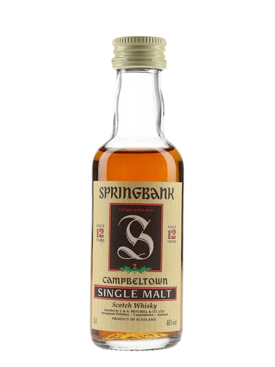 Springbank 12 Year Old Bottled 1990s 5cl / 46%