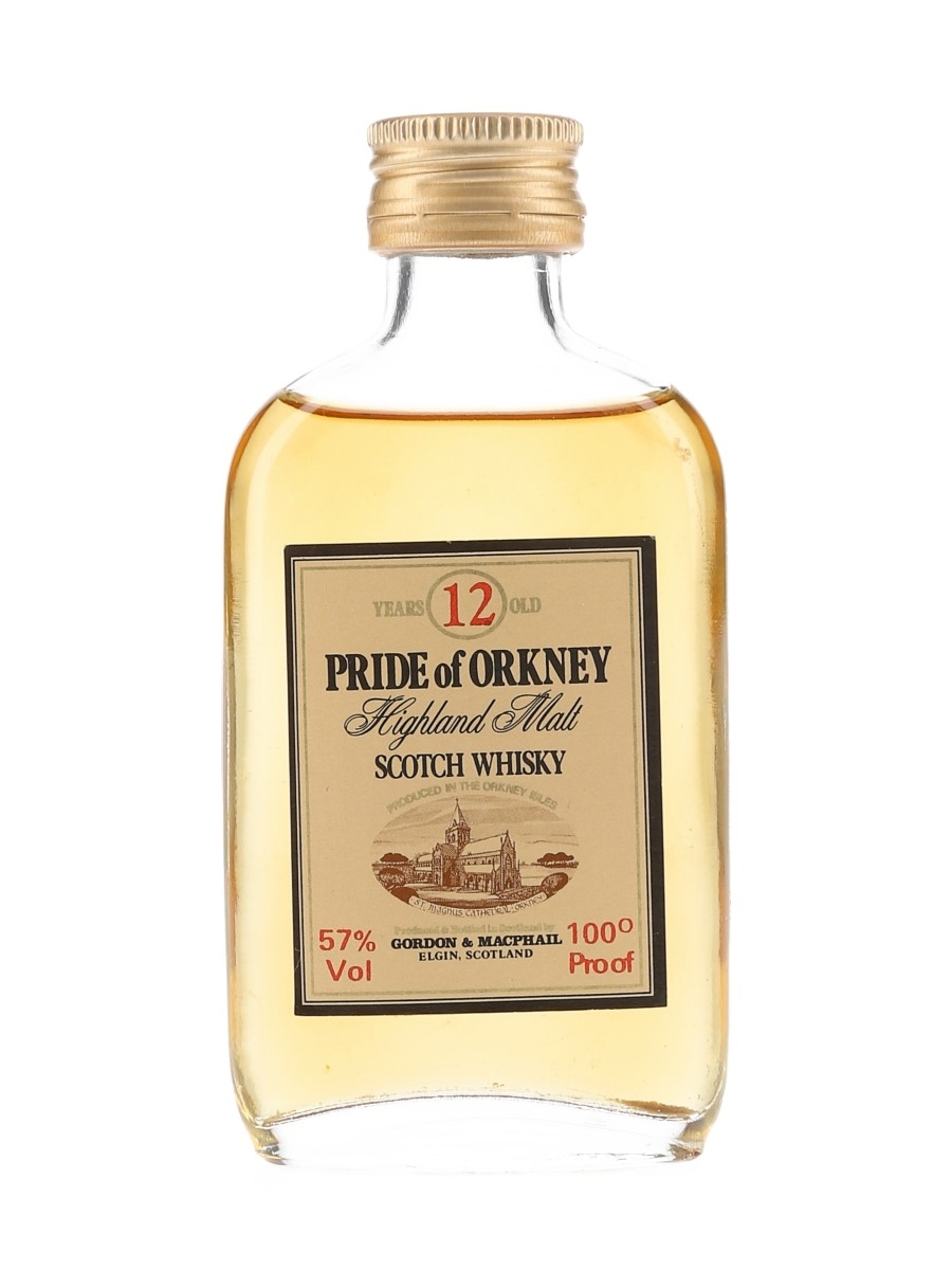 Pride Of Orkney 12 Year Old 100 Proof Bottled 1970s-1980s - Gordon & MacPhail 5cl / 57%