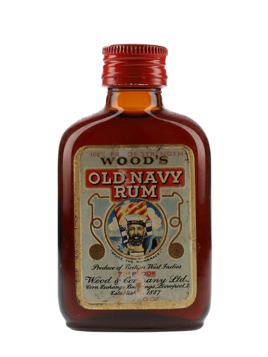 Wood's Old Navy Rum Bottled 1960s 5cl